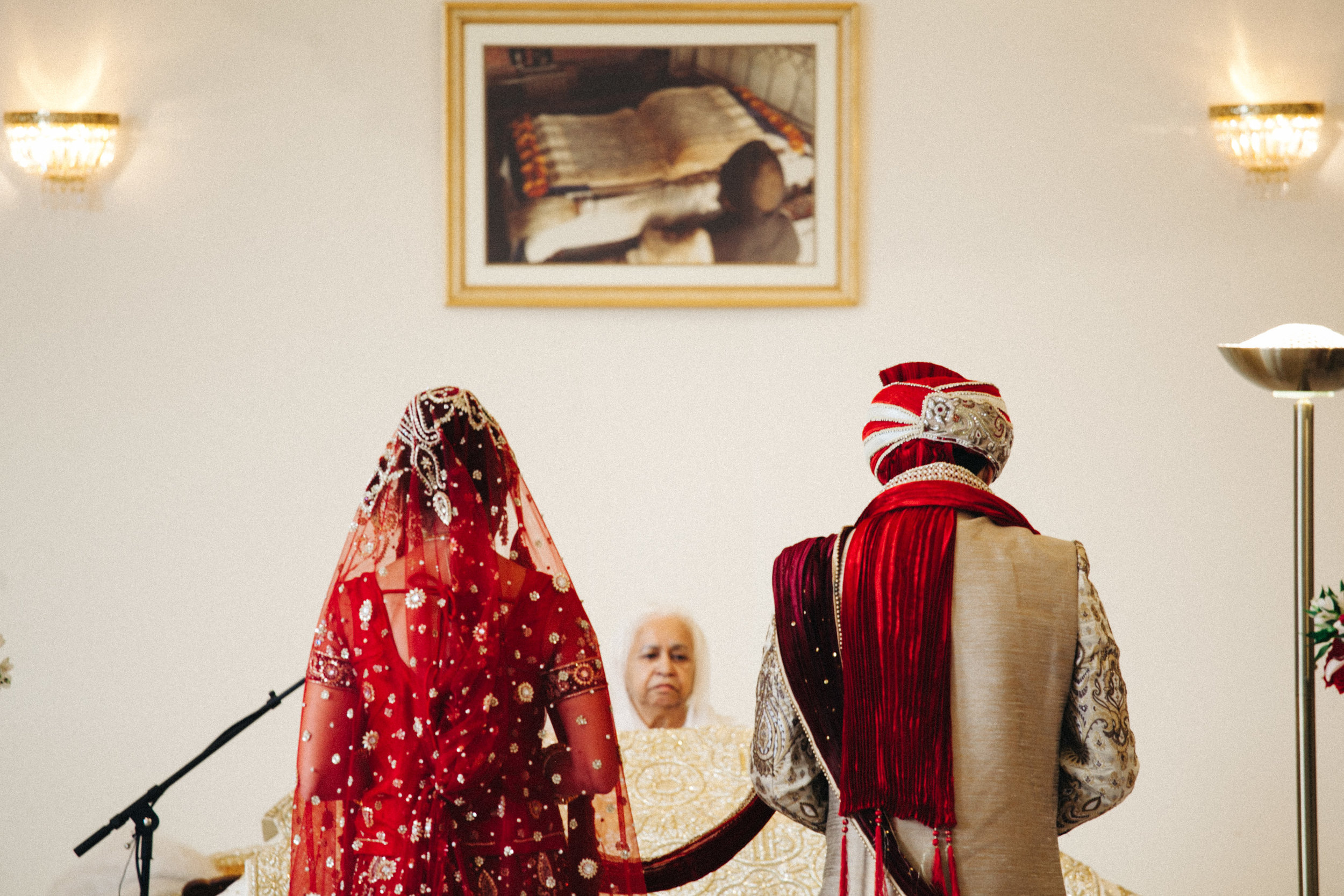 During the Sikh wedding ceremony