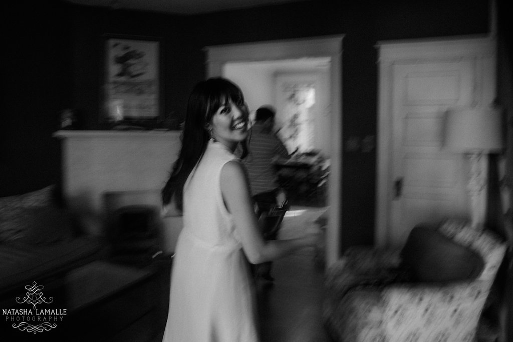 Copy of The bride-to-be in motion