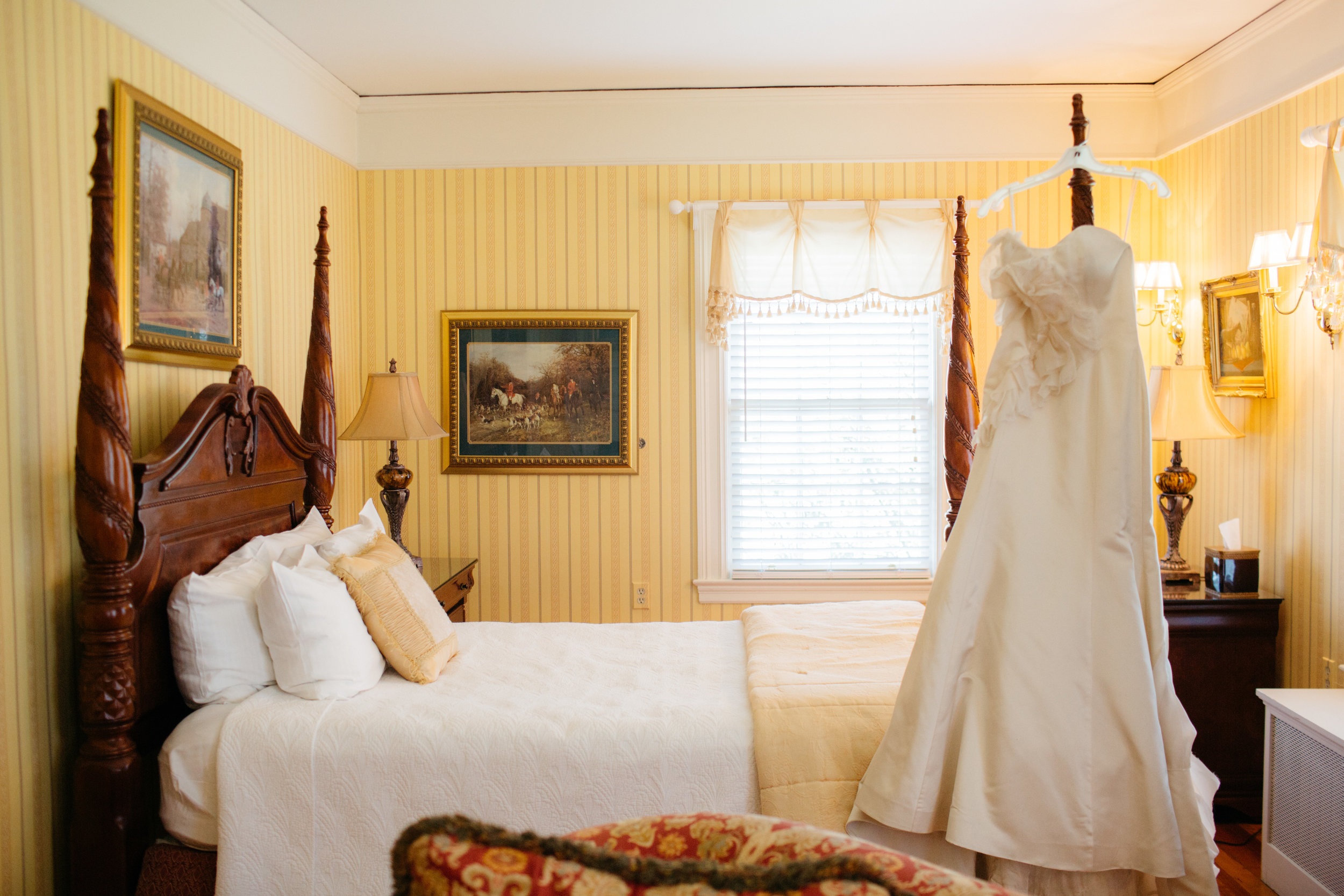 The yellow room at Historic Rosemont Manor