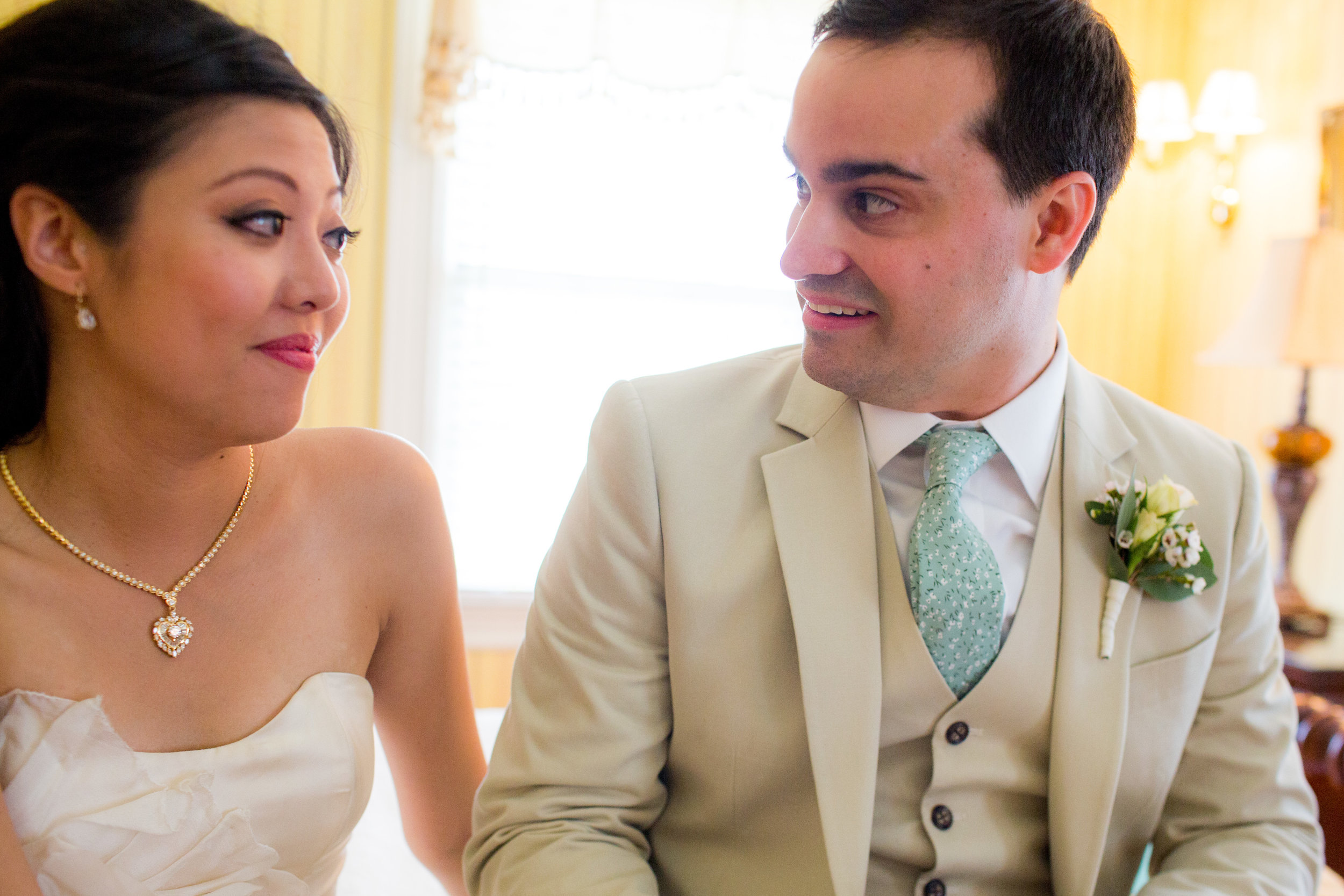 The bride gave a notebook to the groom