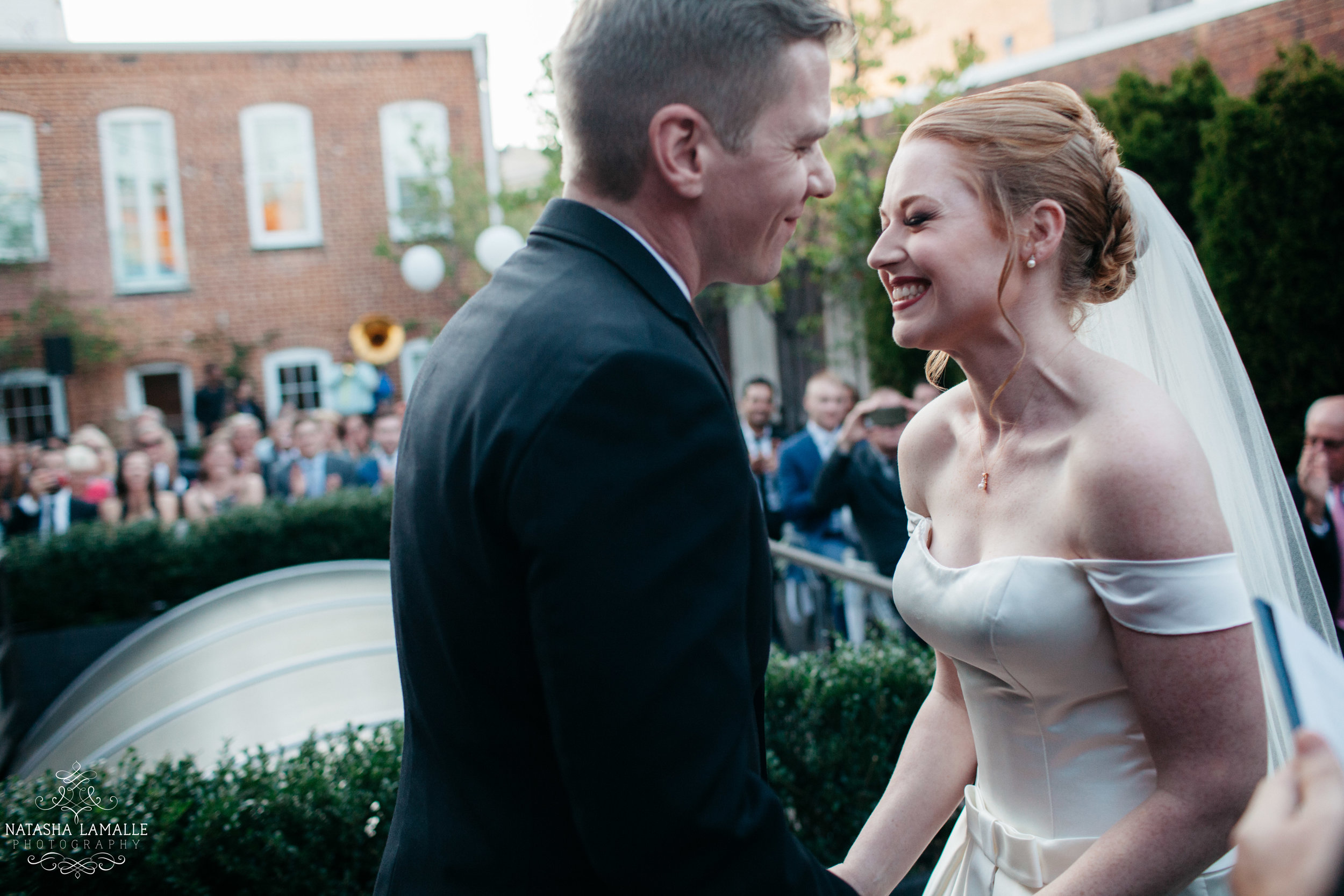 Monika and Gary got married at Fathom Gallery in Washington DC.