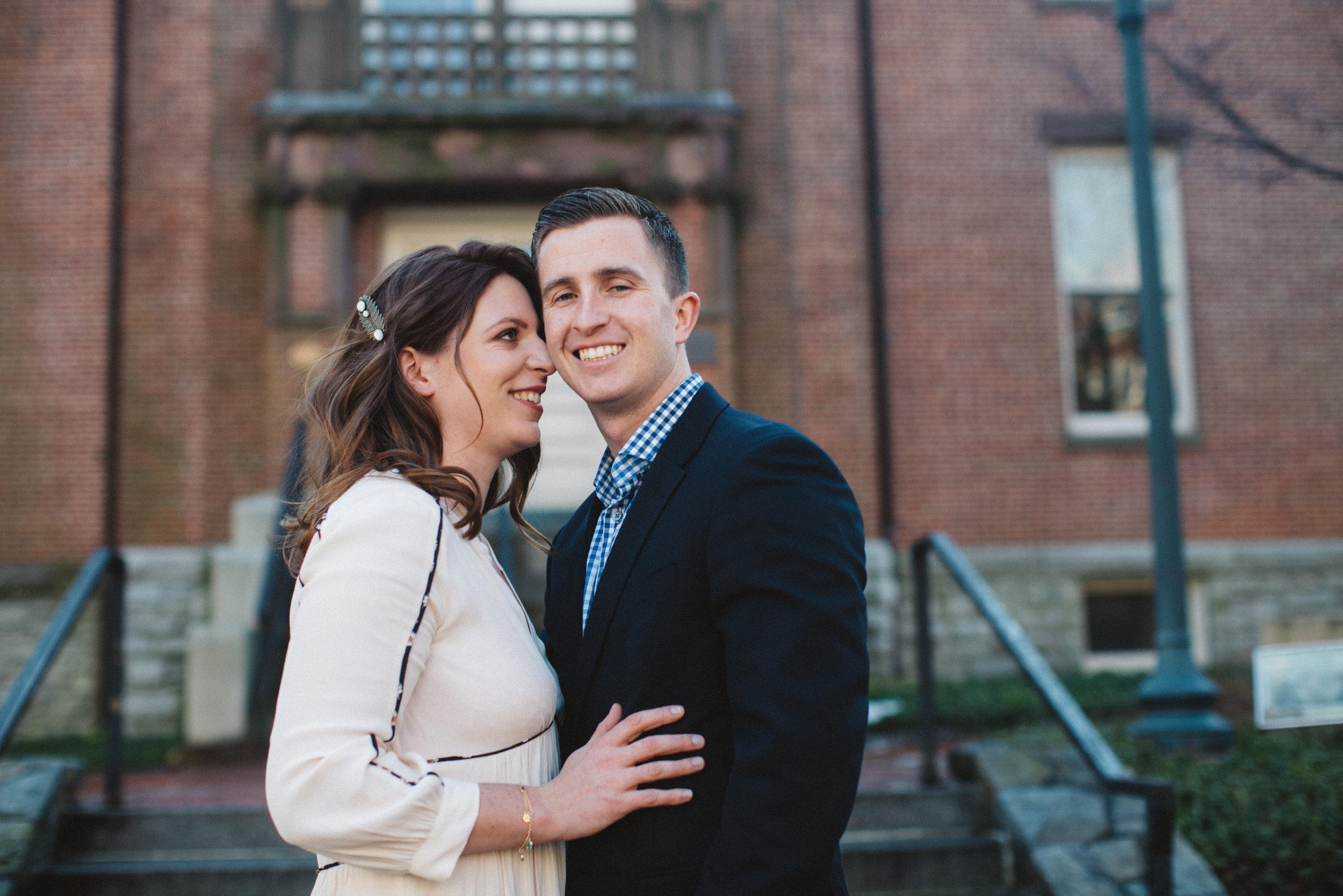 Une séance de couple juste après la cérémonie civile.