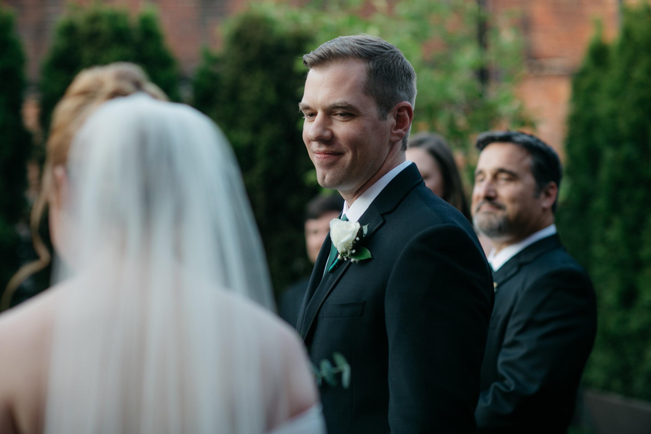 """Ce couple a choisi de ne pas faire de """"first look"""" avant la cérémonie."""