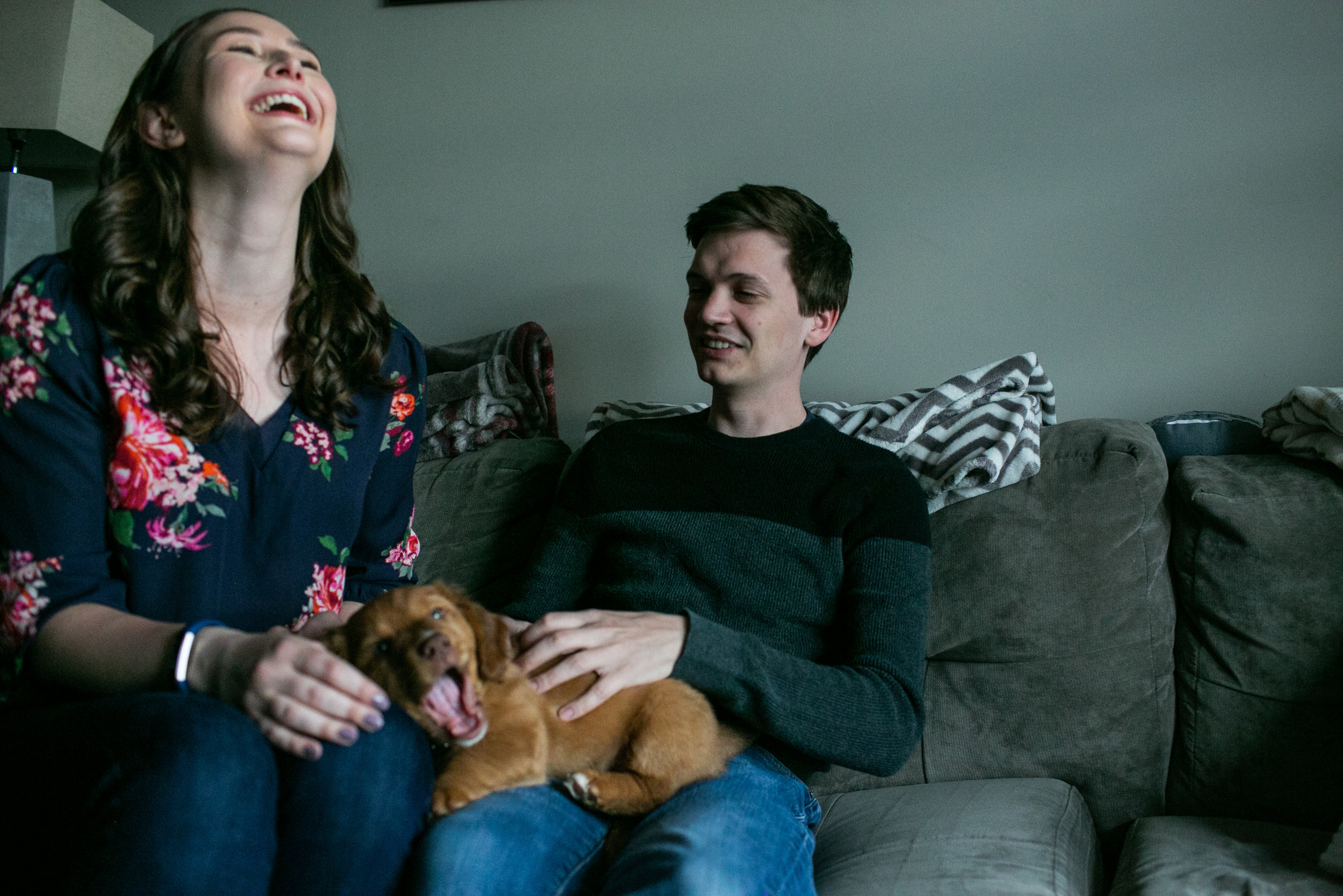 A pupping engagement session in Petworth