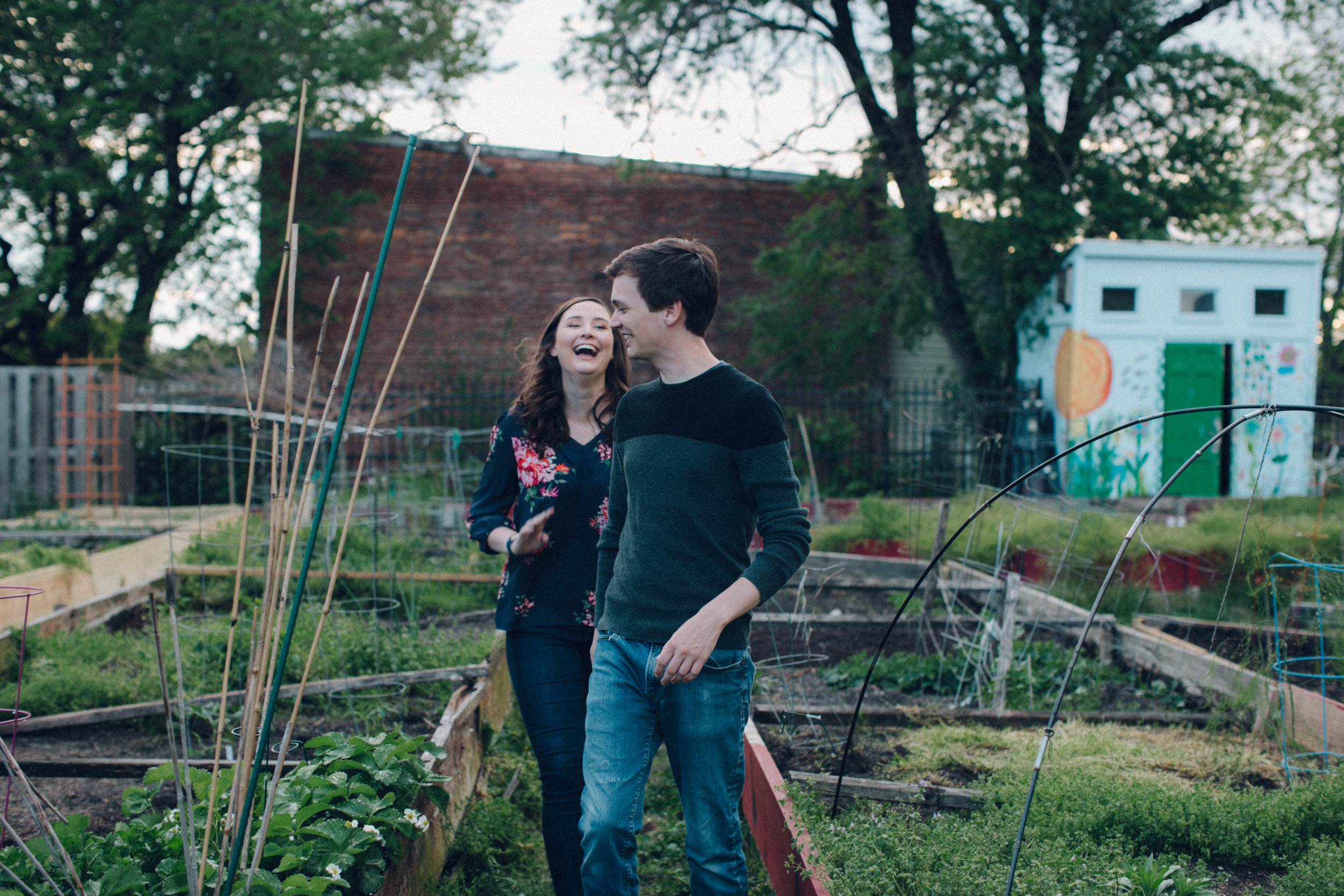Engagement session in a community garden
