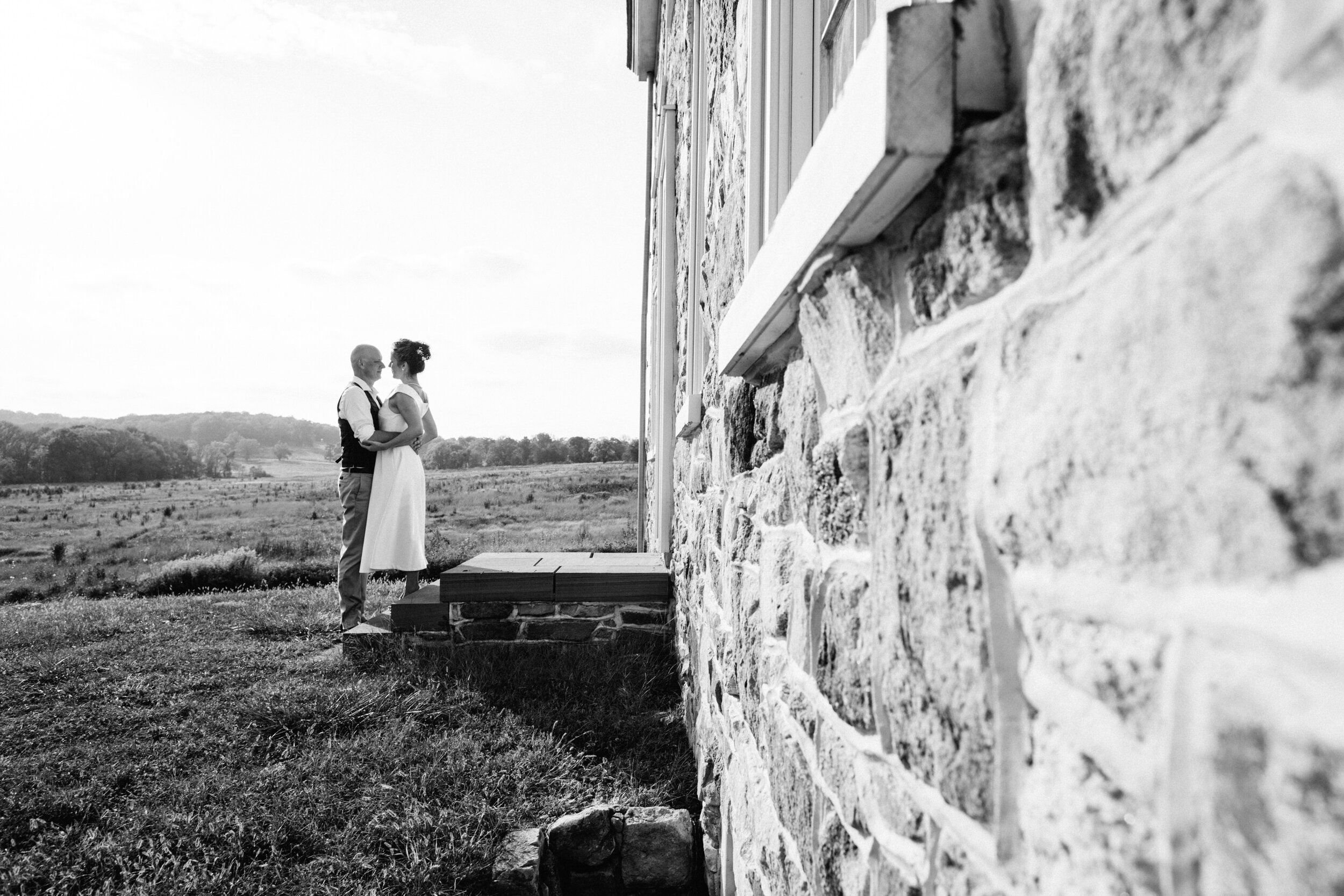Wedding ceremony at Valley Forge Park in Pennsylvania
