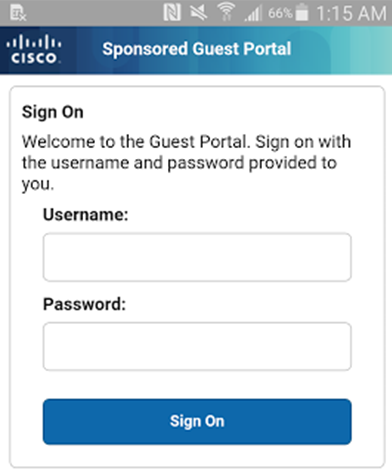 Step 1 - Guest connects to the network and is redirected to the Guest Portal