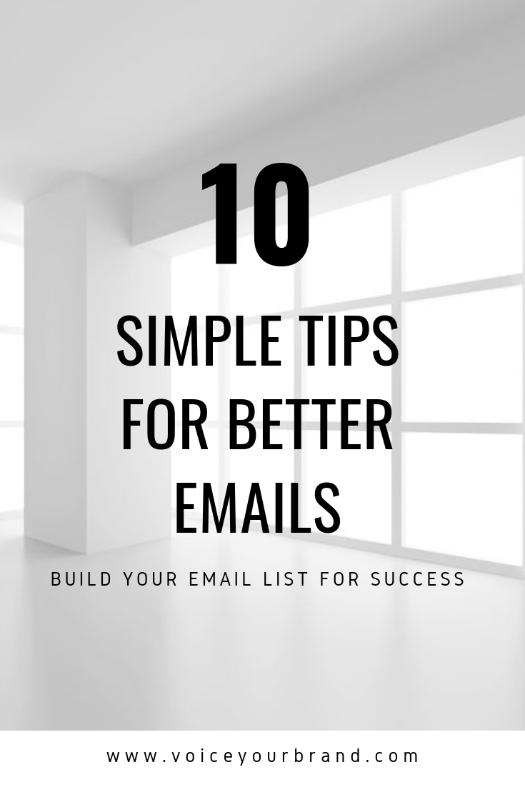 how to write better emails to build your email list