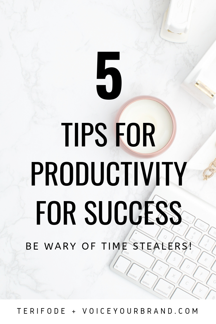 Tips for time management for entrepreneurs who get easily distracted with time stealers! Be ware of these 5 things for best productivity.