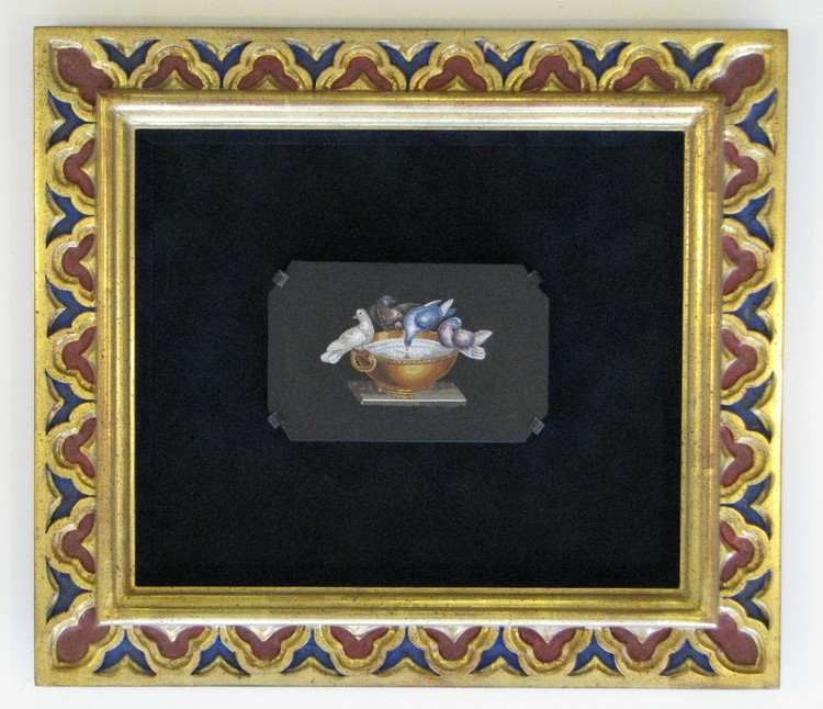 Hand painted and gilded frame