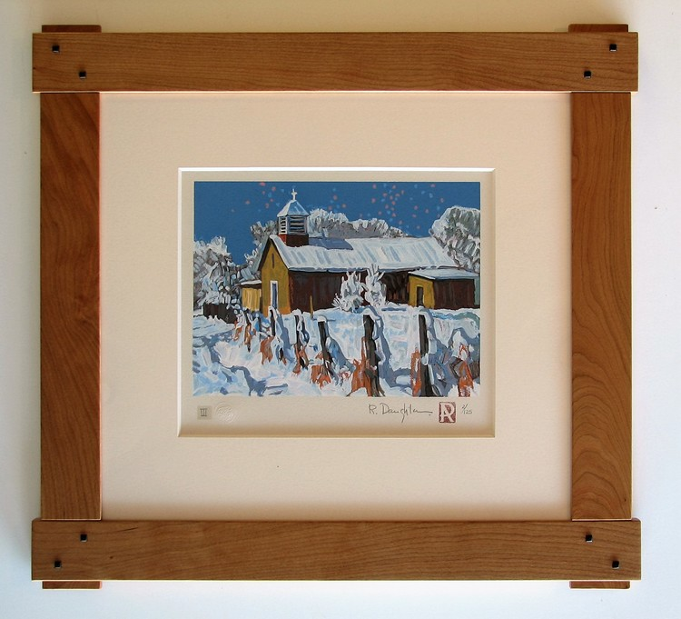 Mortise and tenon cherry frame for this Robert Daughters print