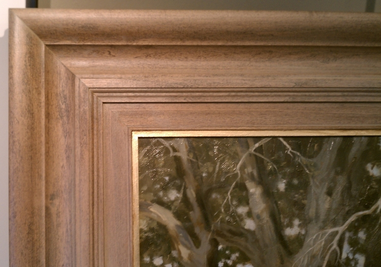 Close up of above frame, notice the gold leaf edge of the frame.