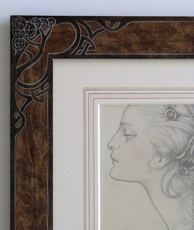 Close up of above frame.