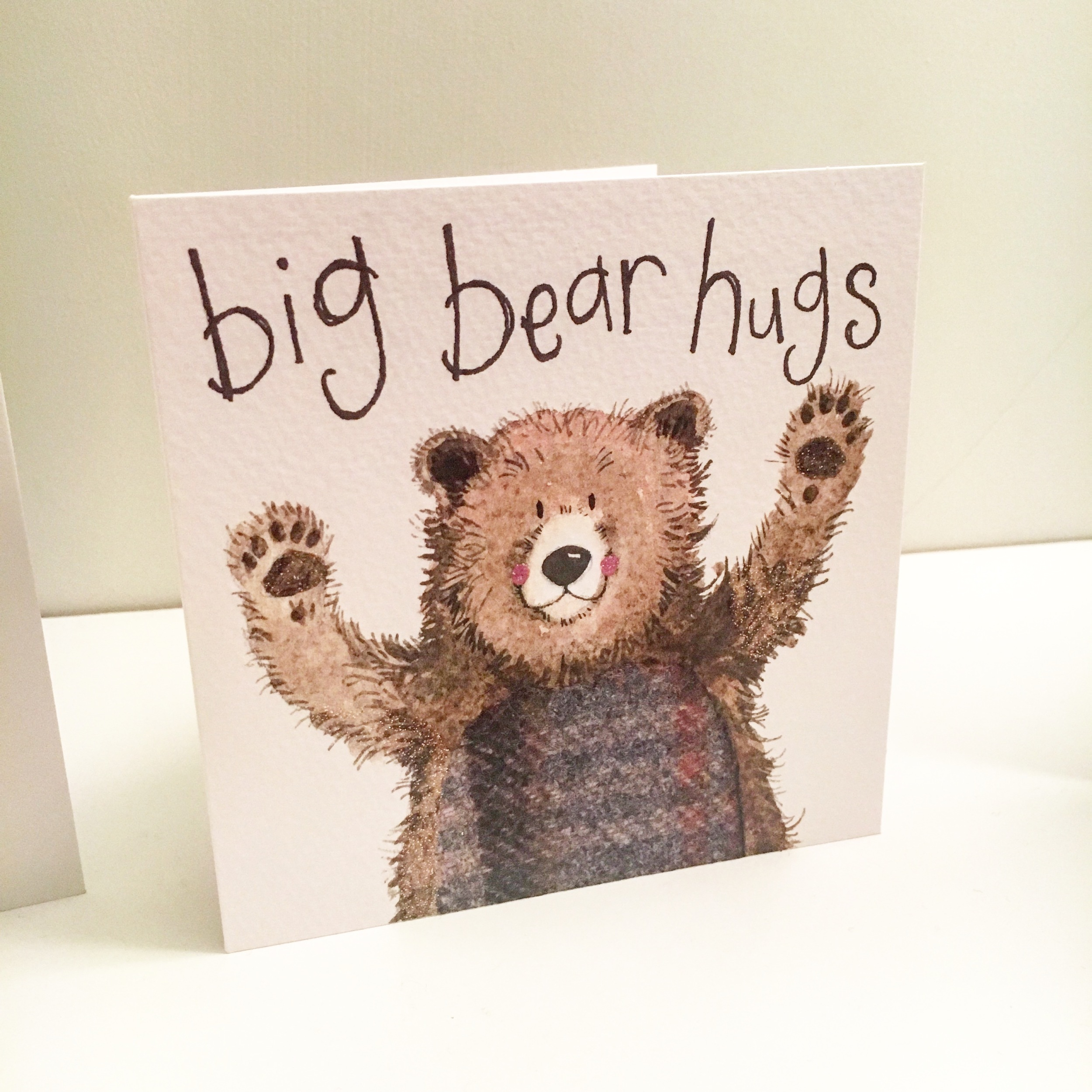 big bearhugs birthday card