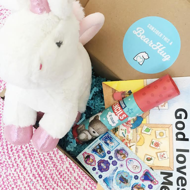 post pals care package gift box for an ill child bearhugs