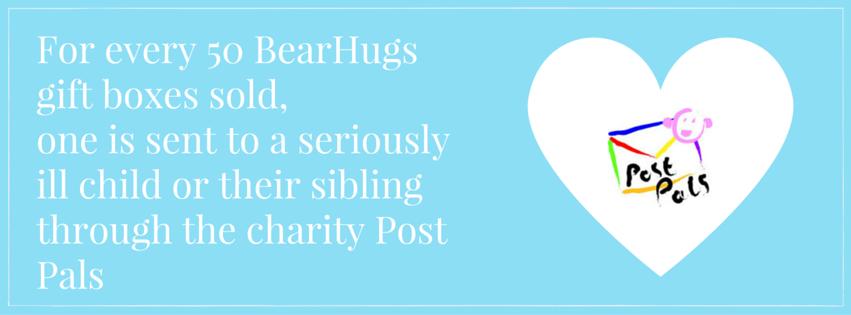bearhugs giving back charity post pals donations