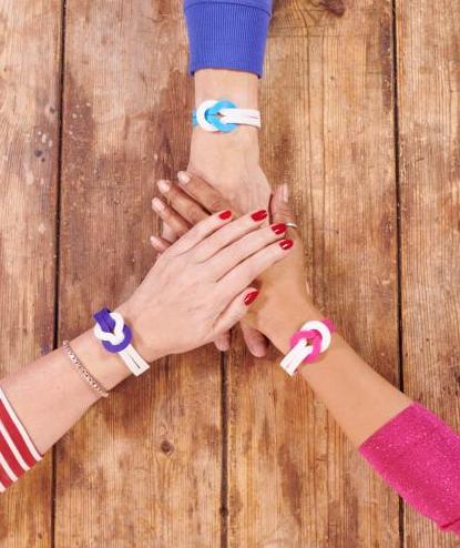 bearhugs world cancer day unity wristband
