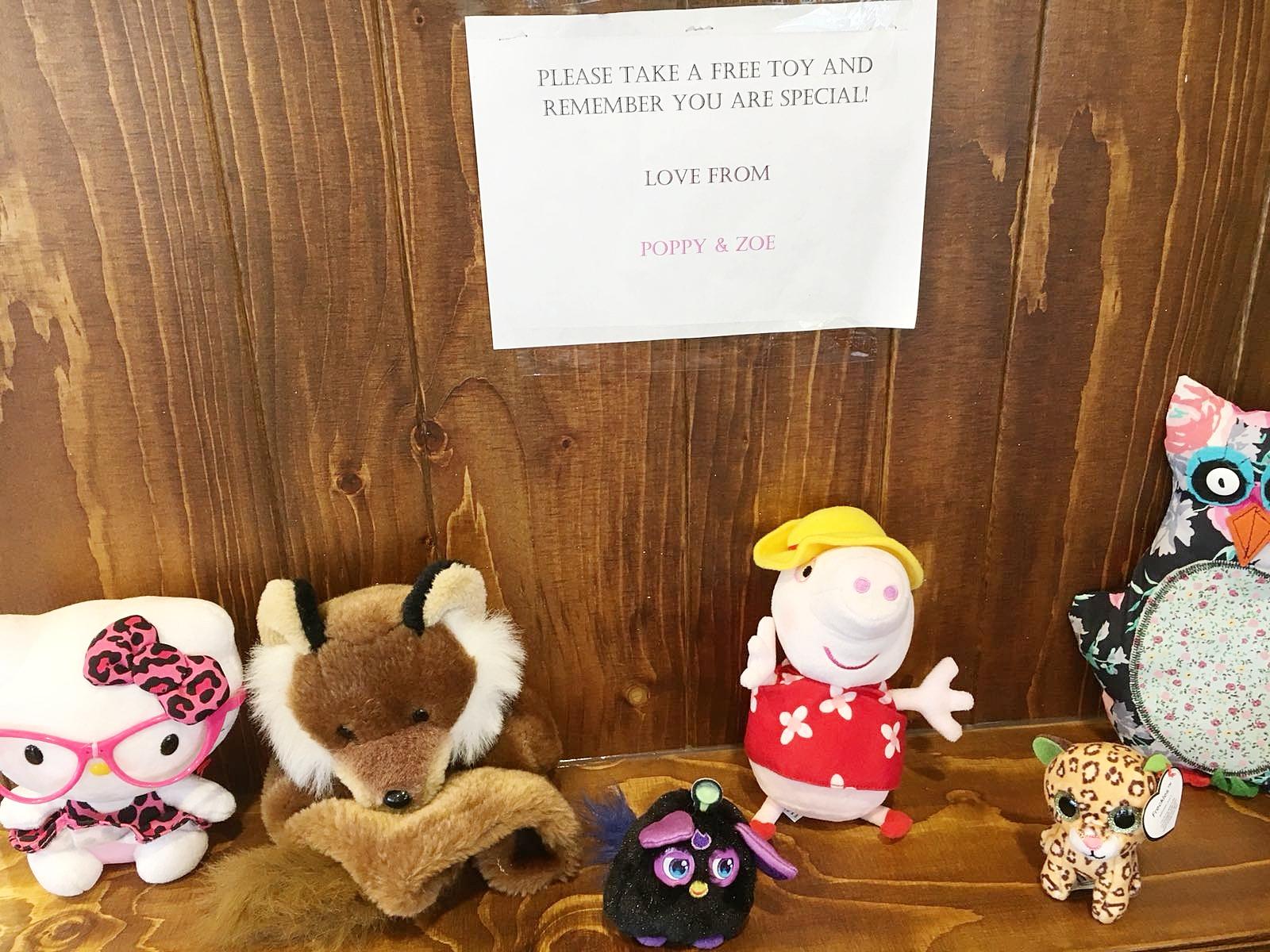inspring random act of kindness sheffield poppy and zoe costa bearhugs