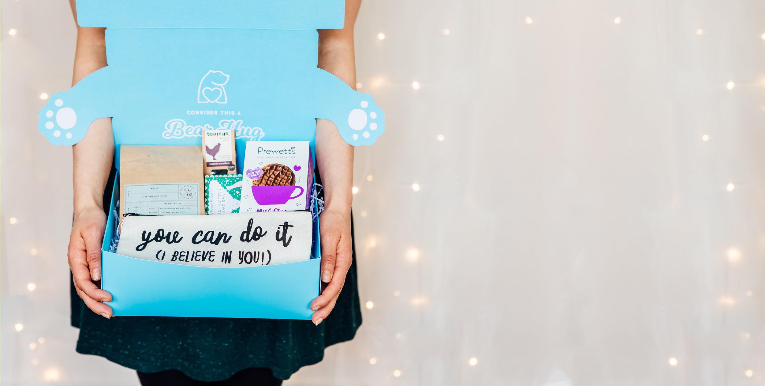 cheer up gift ideas bearhugs bear hug in a box care package