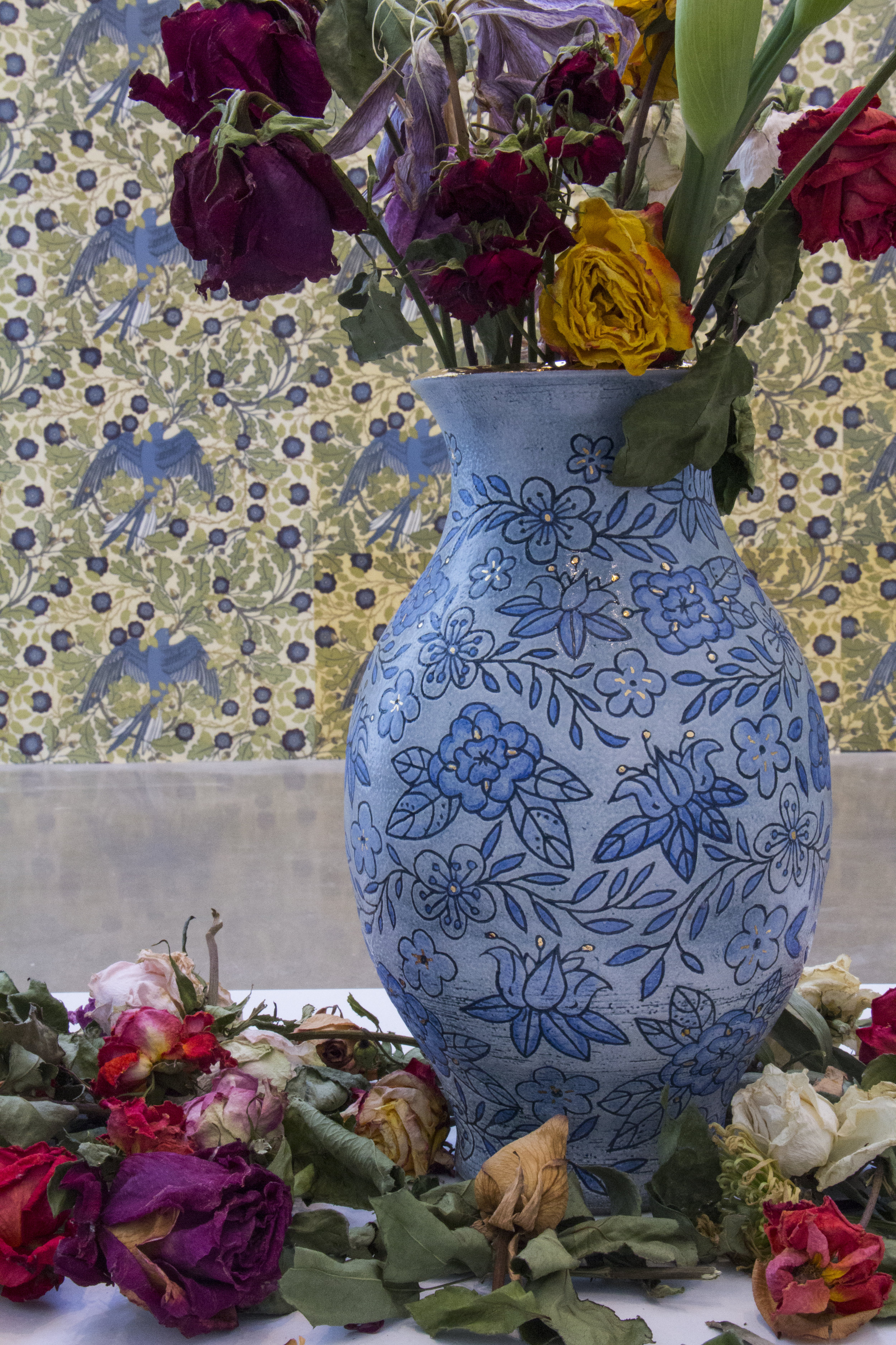 One of Two Vases