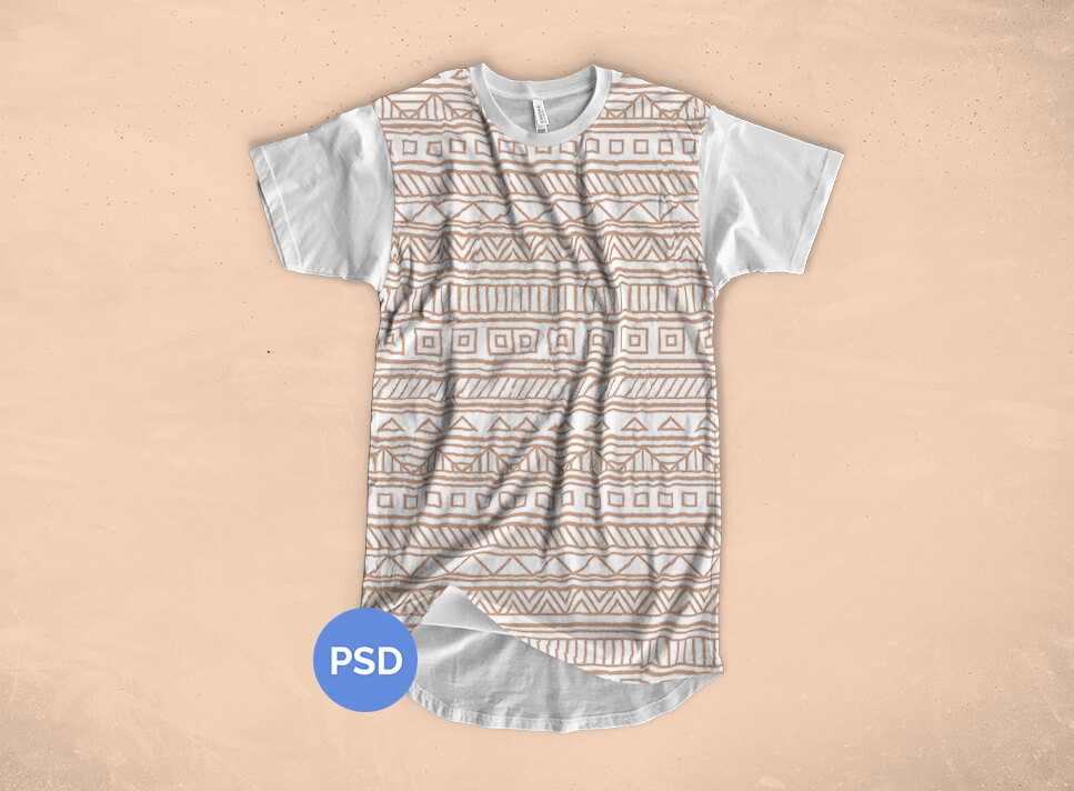 Free Longline T-shirt Mockup | Michael Hoss Design | Graphic design Nashville, TN.