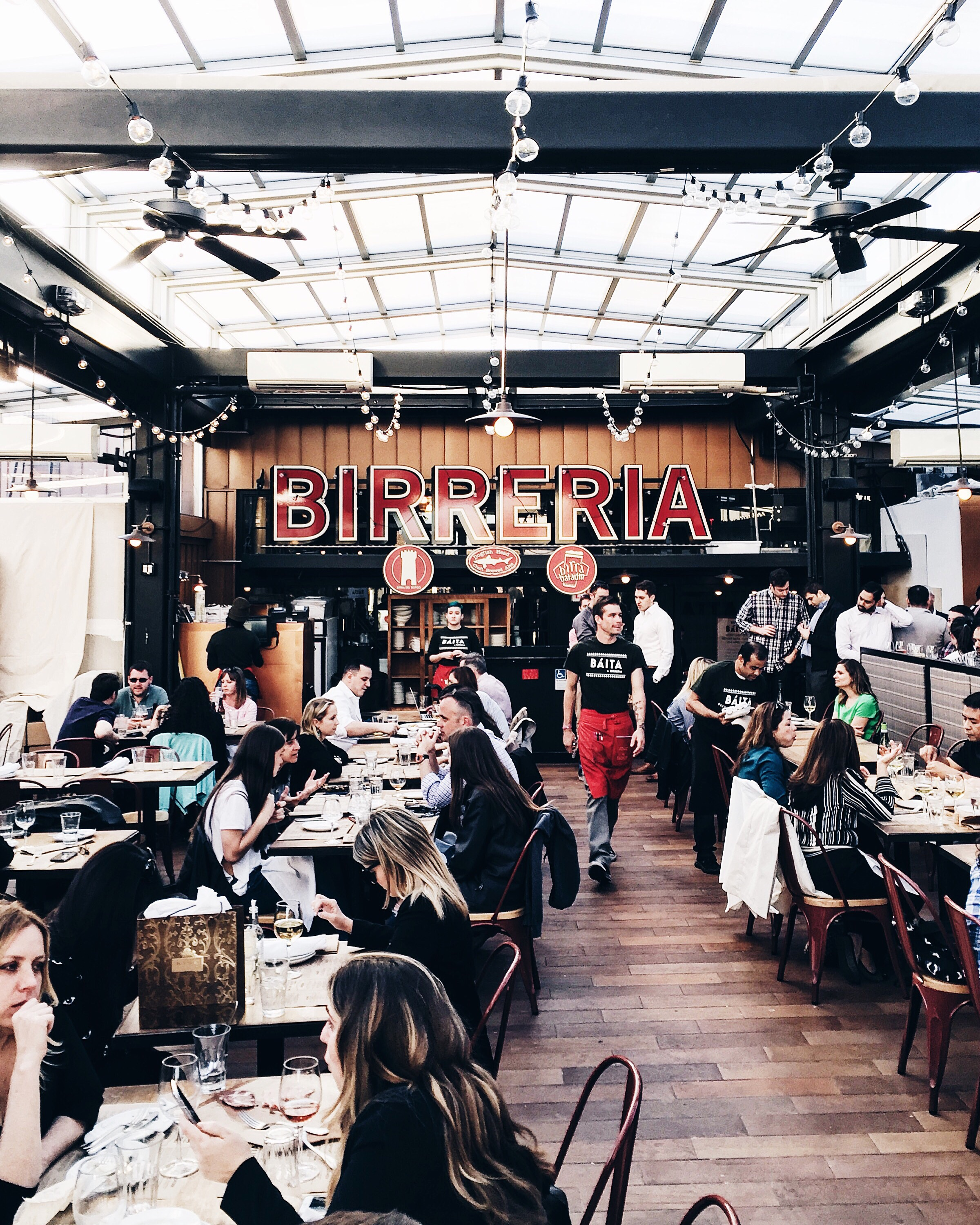 La Birreria is home to a varied selection of house brewed ales and fine imported beers.