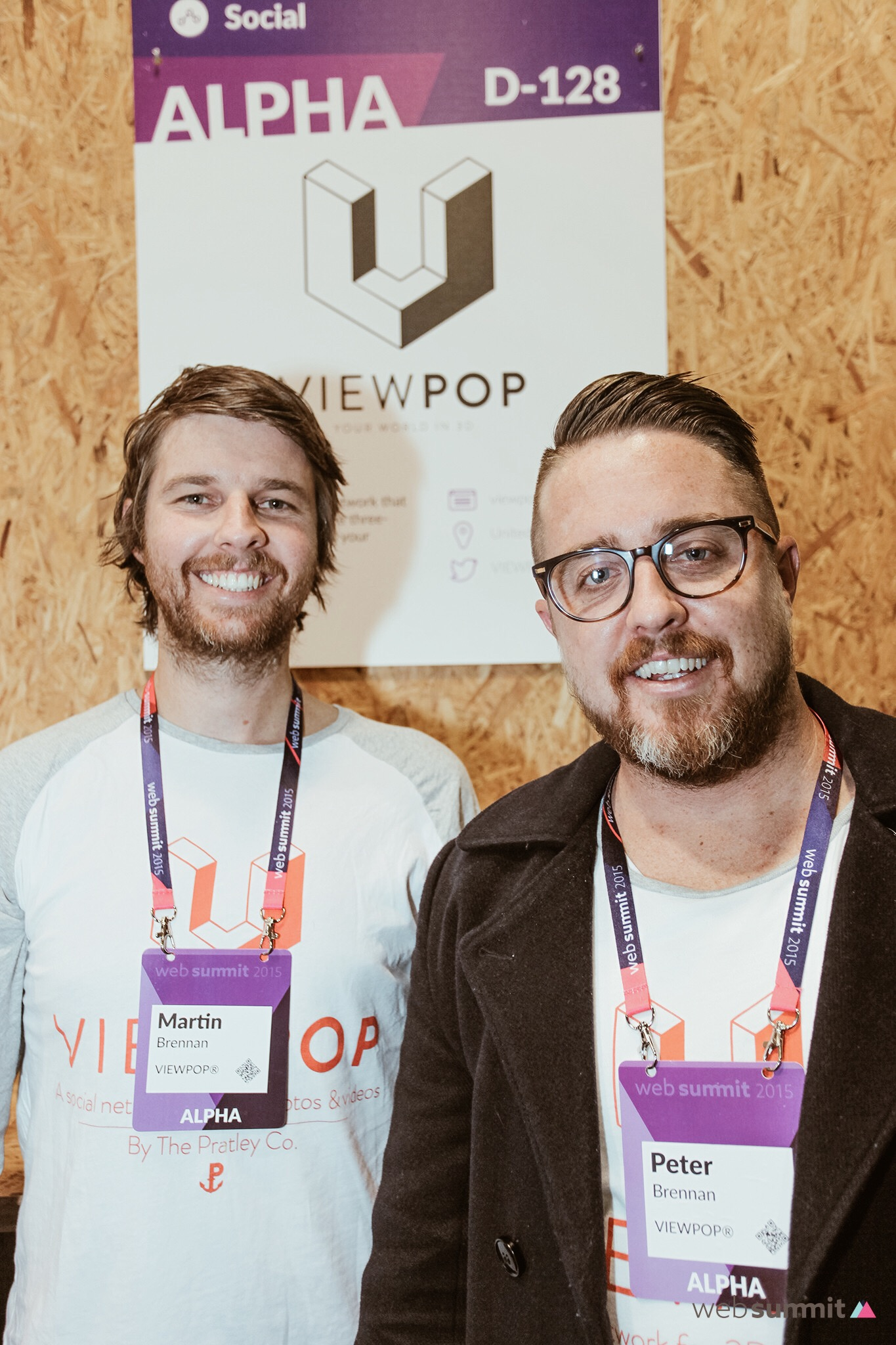 The VIEWPOP Co-Founders in Web Summit's Alpha Village, Day 3. Dublin.