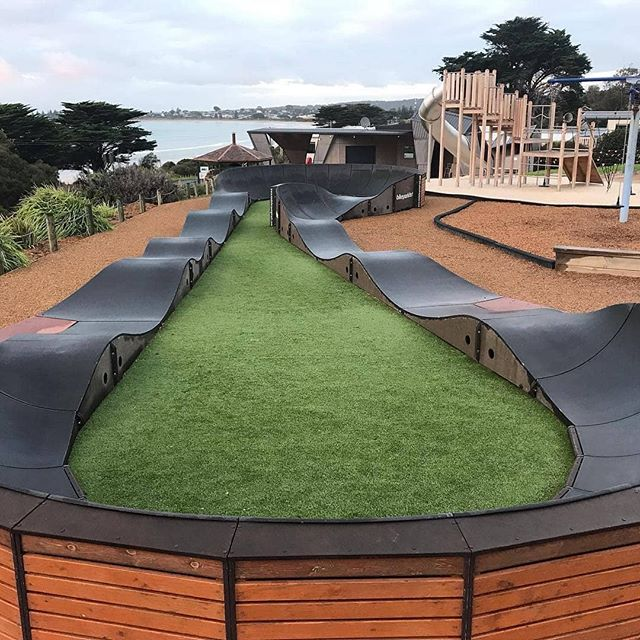 Who else wants to try out this awesome @big4apollobaypiscesholidaypark Pump Track? 🚴  LINK IN THE BIO!  #ExploreBIG4 #BIG4 #BIG4HolidayParks #SeeAustralia #PumpTrack #ApolloBay