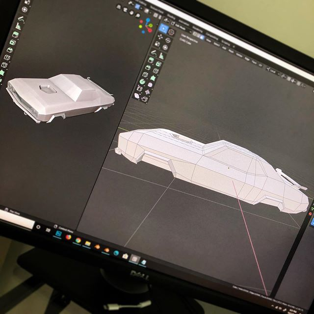 Ahh. Back in #blender after a long hiatus. Working on a simplified '71 Plymouth 'Cuda.. with some sci-fi twists incoming.. .. ... .. .. #3dArt #lowpoly #cuda #scifi #modeling #3dmodel #wip #artistsoninstagram #conceptart #blender28 #gamedesign #plymouthbarracuda