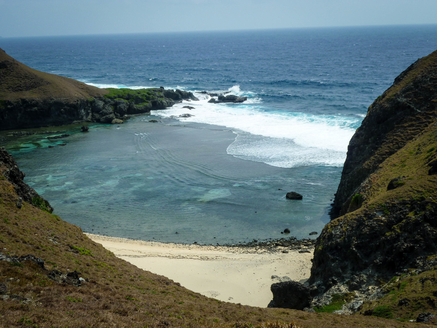 Enjoy the scenery atop one of Sabtang's famous beaches