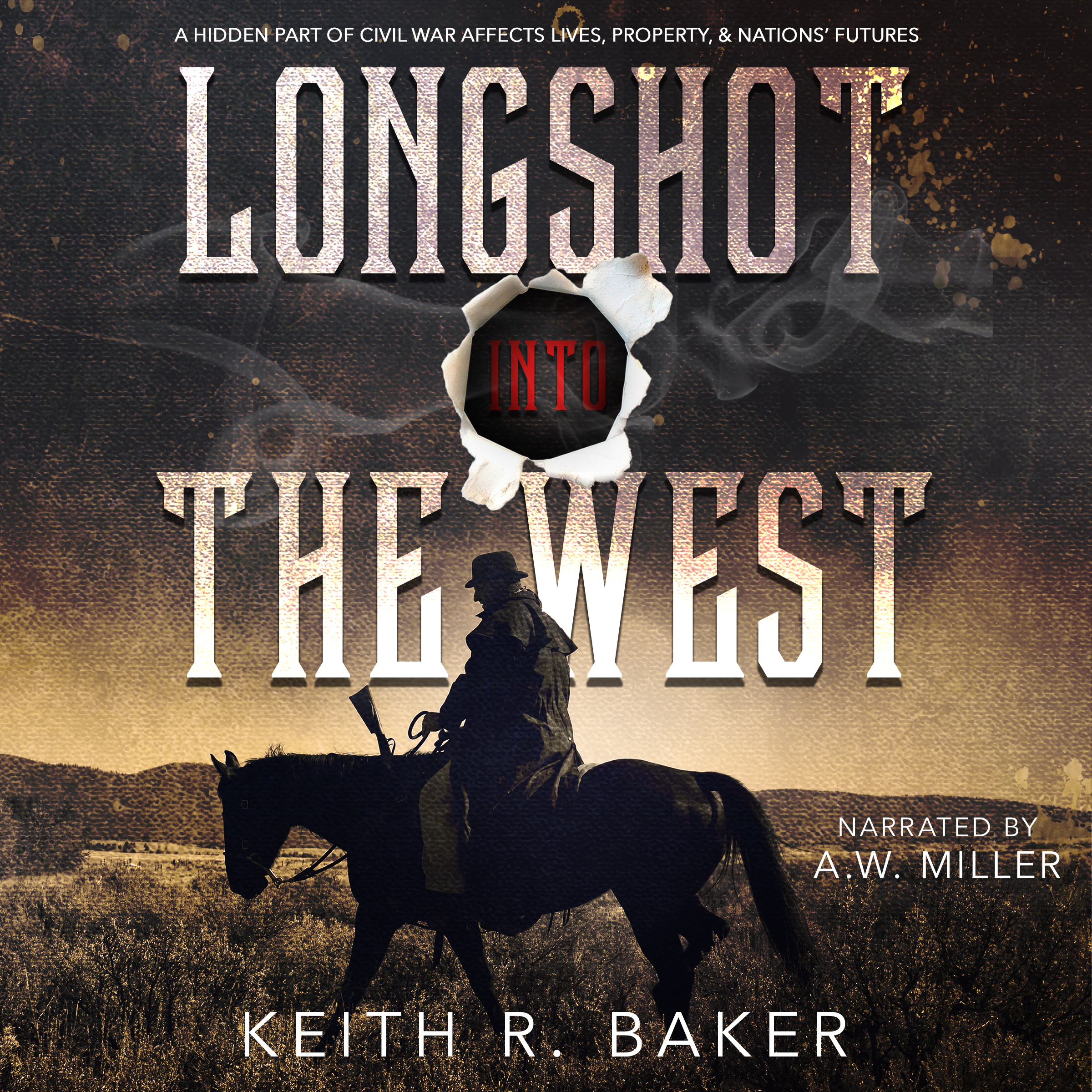 Longshot Into the West by Keith R. Baker in audiobook