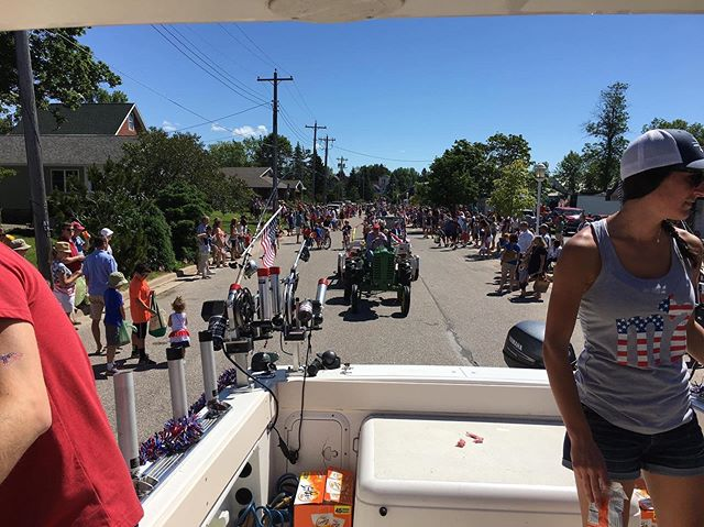 July 4th 2017 Cedarville Parade . . . . . #lescheneauxislands #fishmichigan #puremichigan #fishing #michiganfishing #troutfishing #fishon #michigan #thetugisthedrug #catchandrelease #fish #tightlines #kingsalmon #salmonfishing #atlanticsalmon #laketrout #steelhead #drummondisland #mackinacisland #mibha #accessourwaters