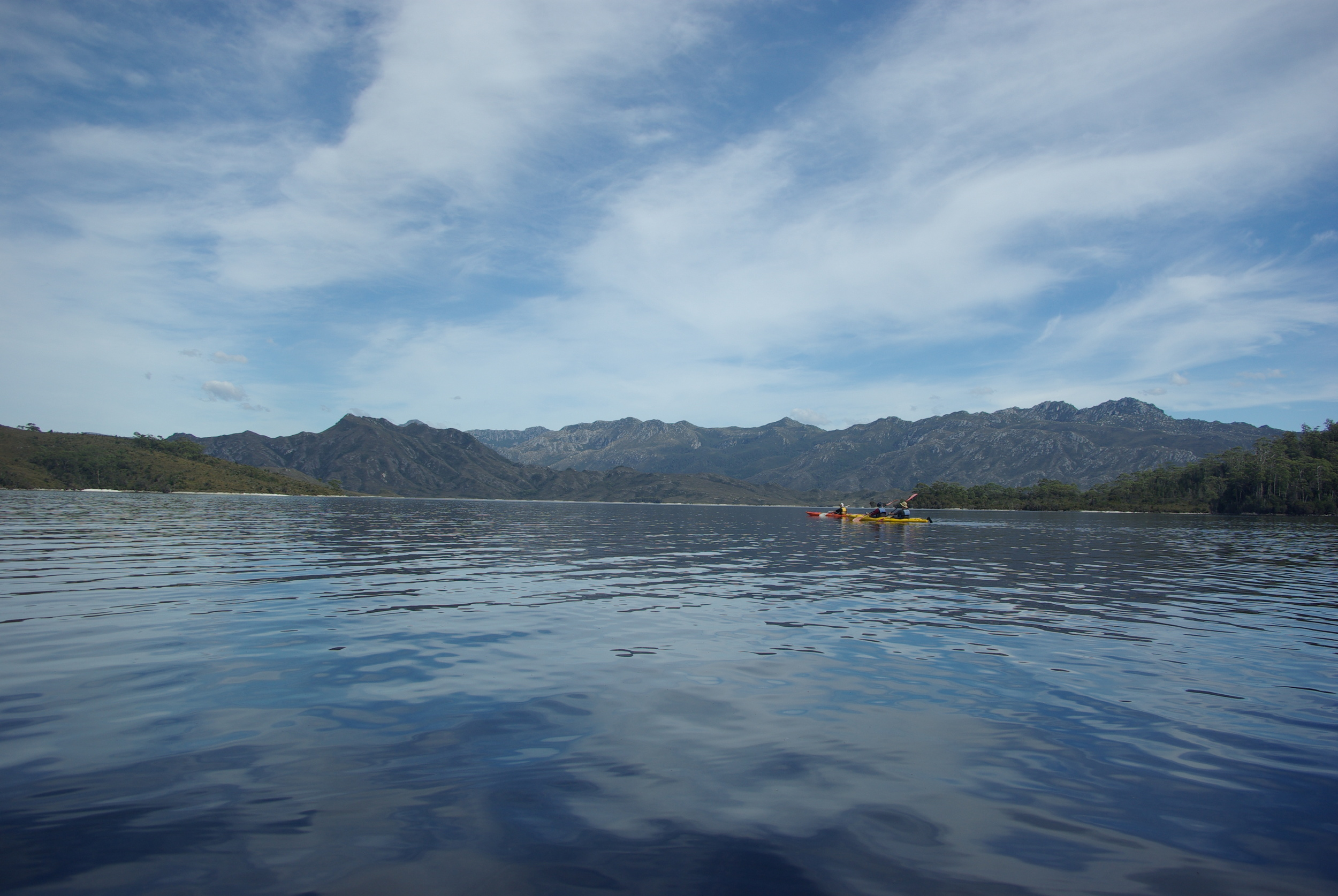 Kayaking on Lake Pedder