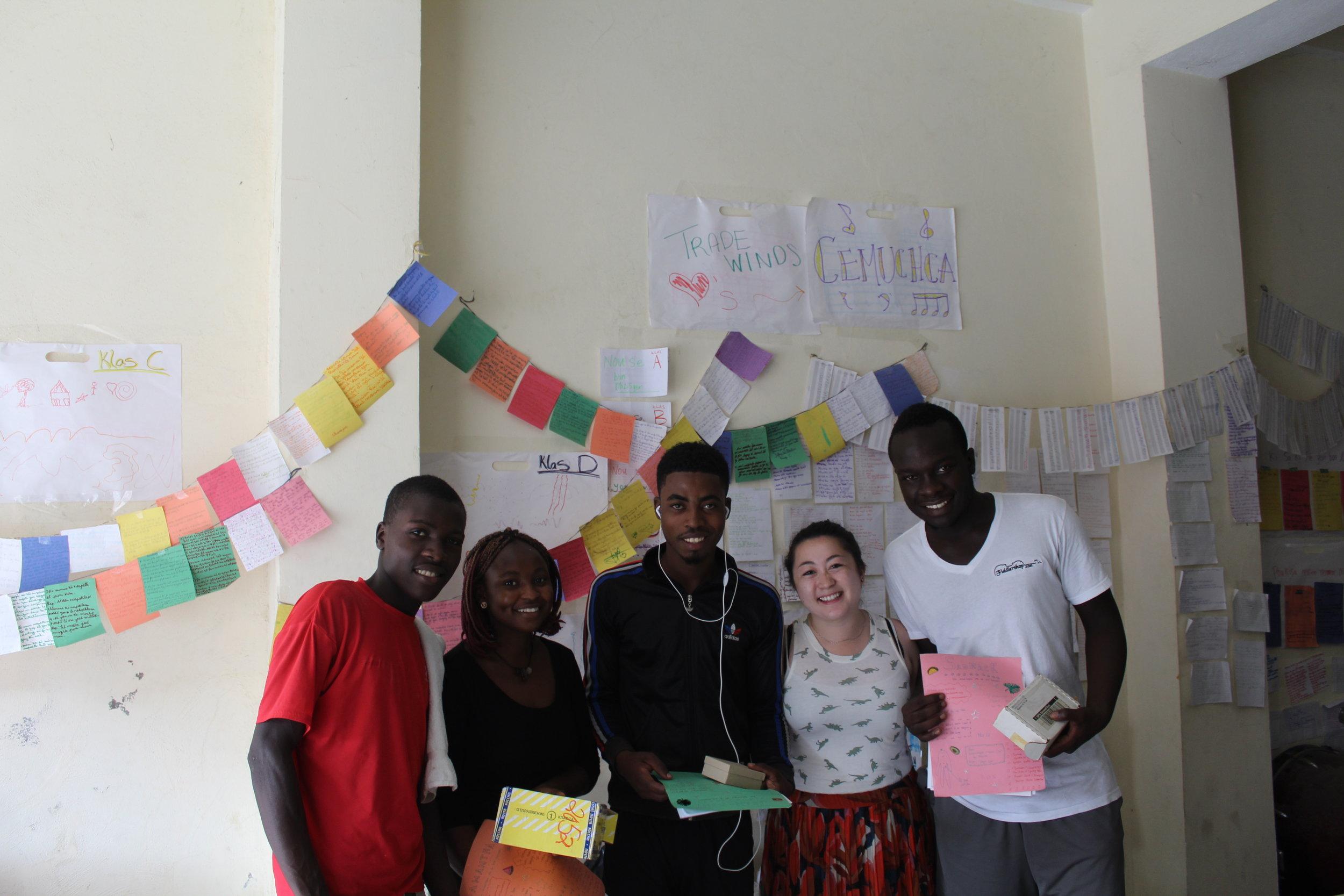 Midori Samson Cap-Haitien Haiti CEMUCHCA with Students.JPG