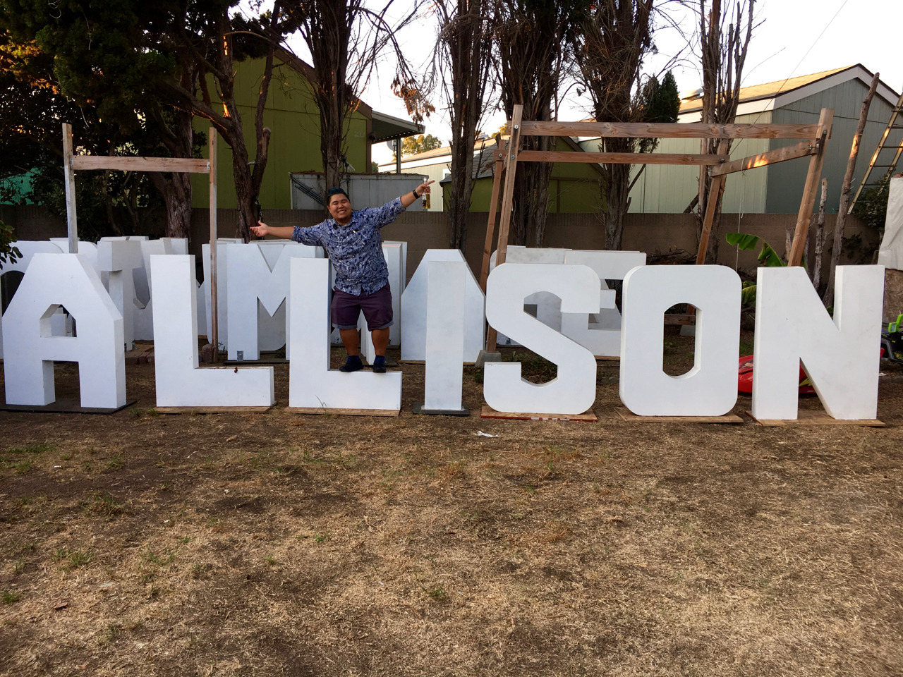 (Thanks Kuya Ivan for making the massive letters for me!)