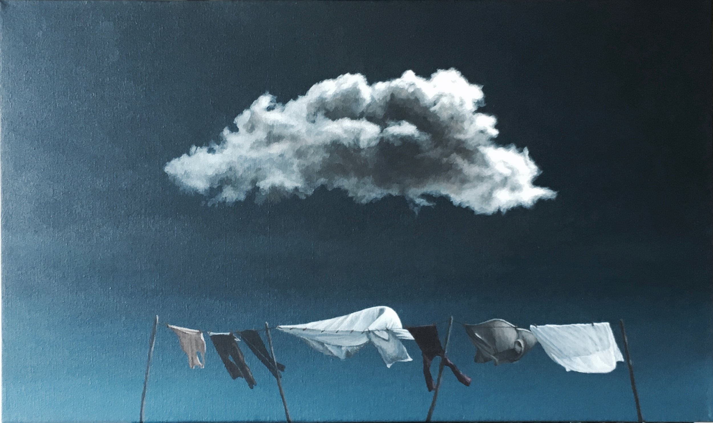 The Cloud Above Me  Acrylic on Canvas 18 x 30 inches    SOLD
