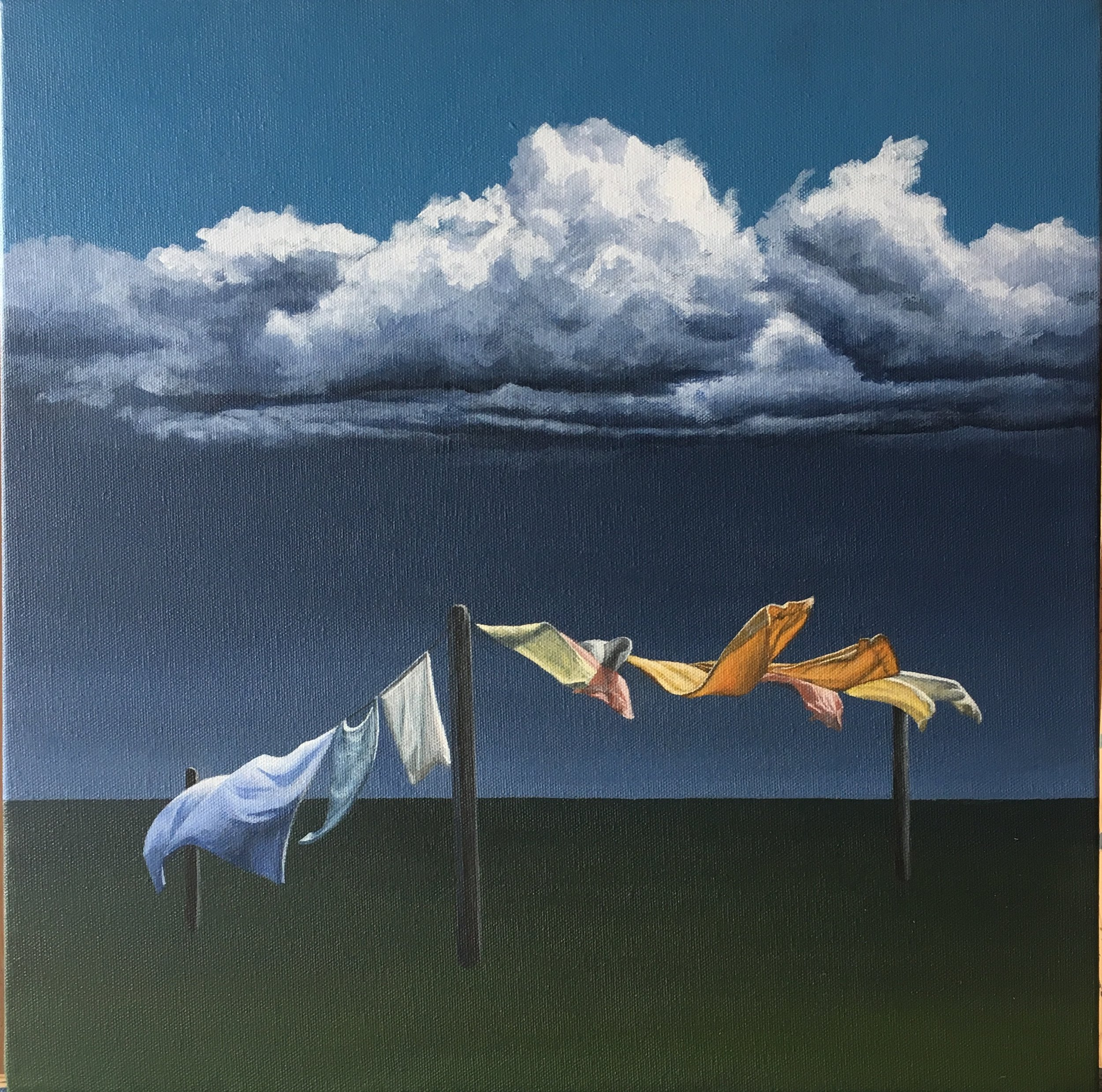 Storm Warning 1  Acrylic on Canvas 16 x 16 inches   SOLD