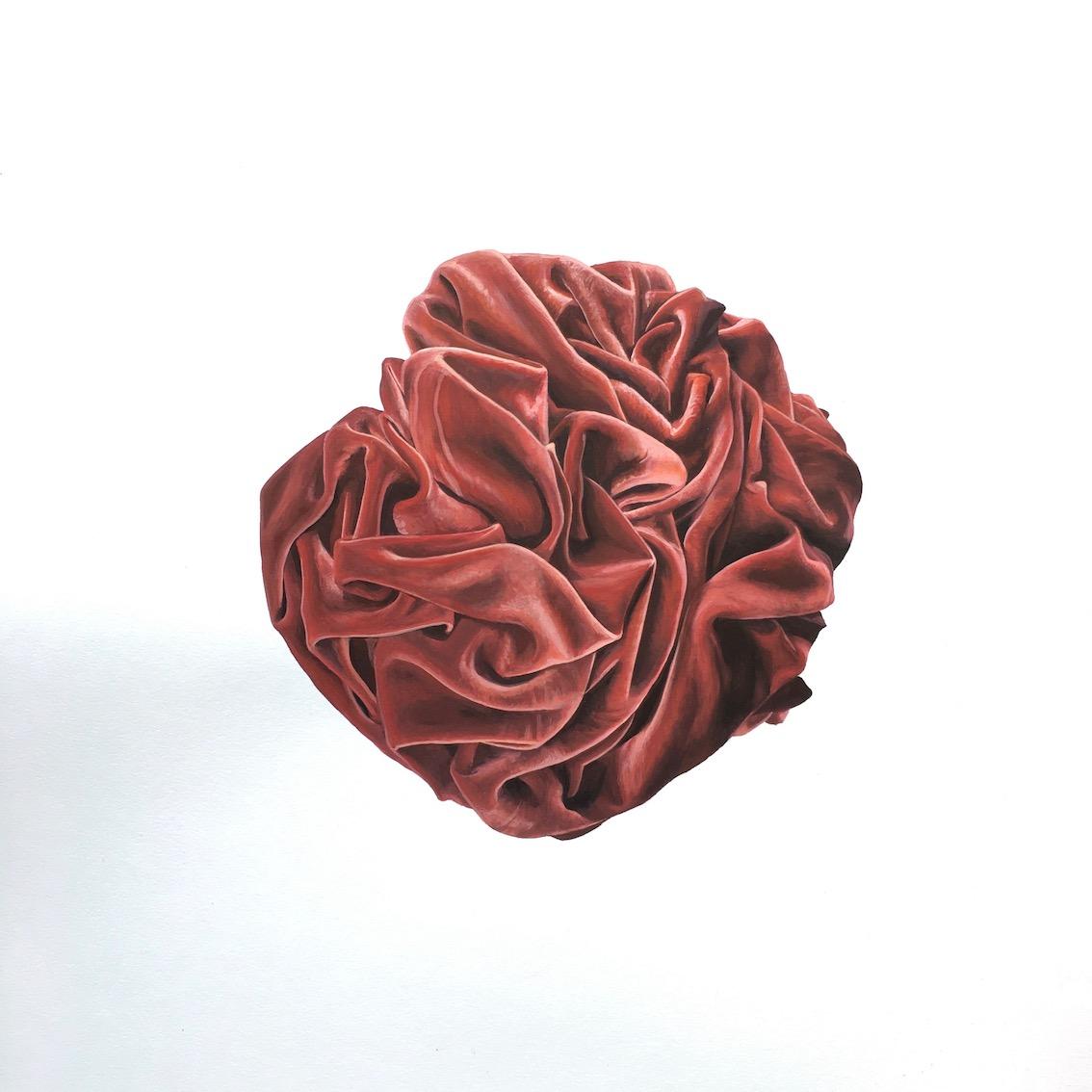 Velvet Rosette   Gouache on Paper  14 x 17 inches $850.