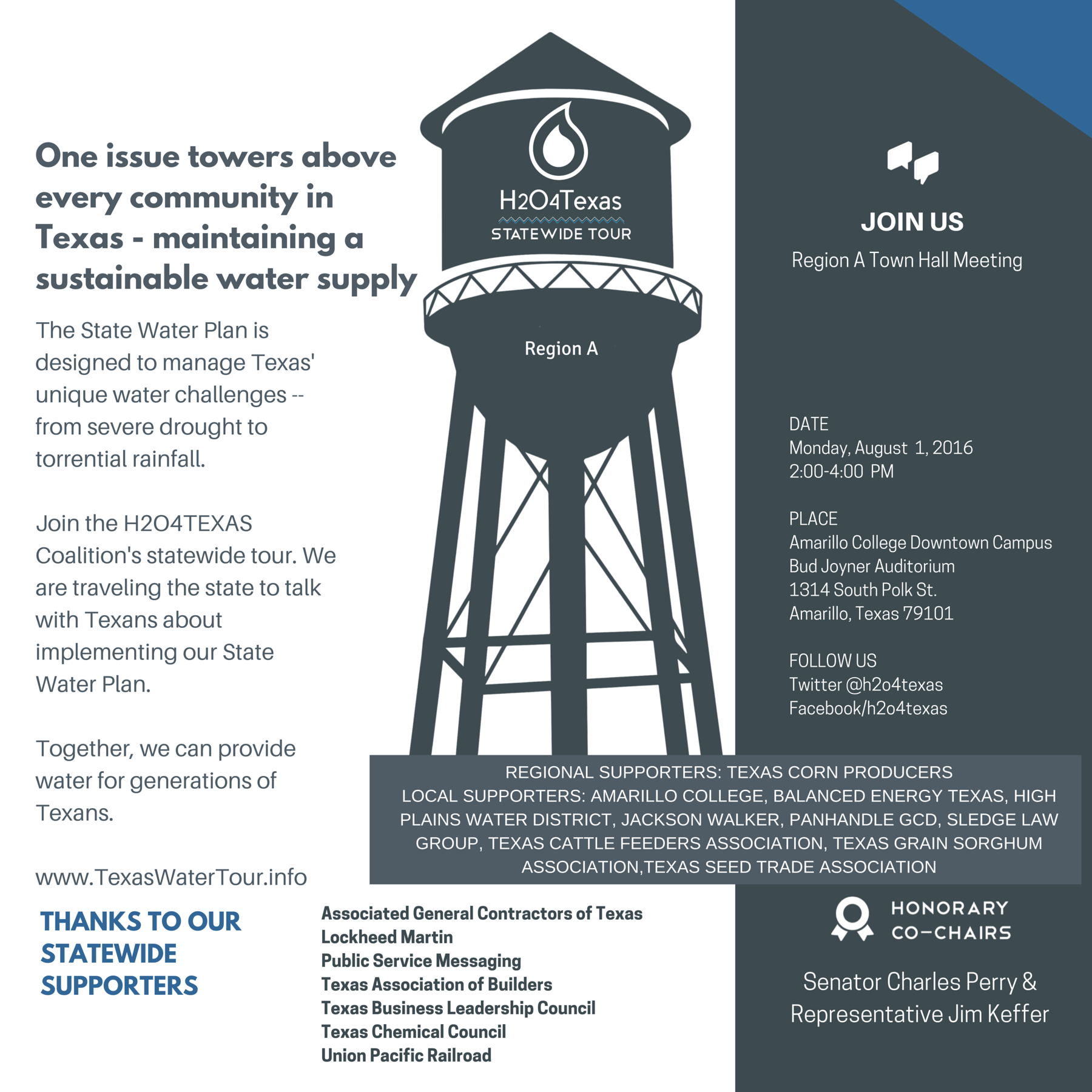 Region A Town Hall Meeting Poster