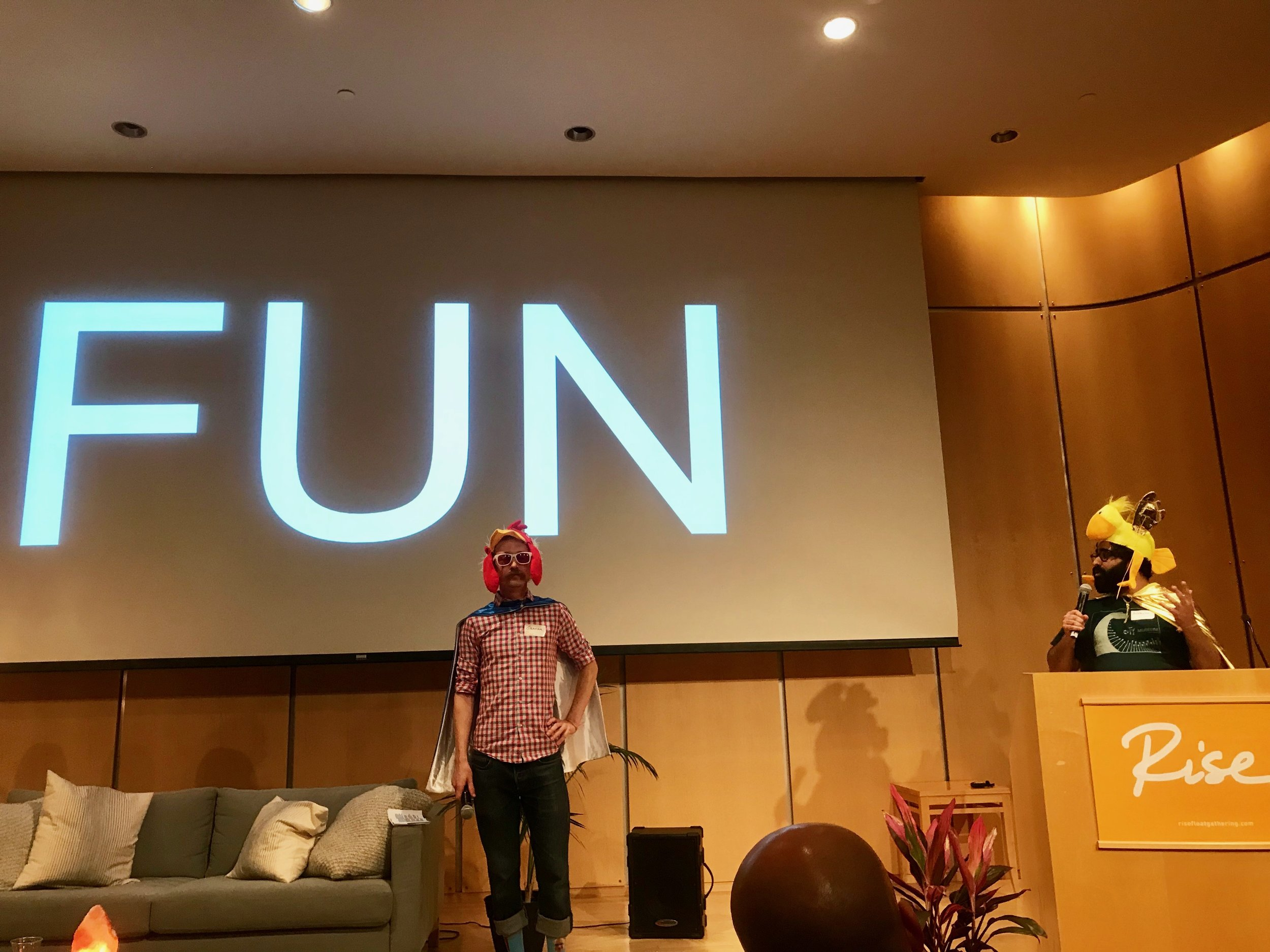 Graham and Ashkan from Float On in Portland, Oregon, remind us to not take ourselves too seriously.