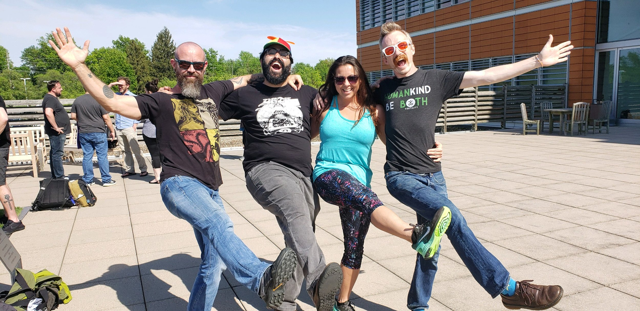 Christy and I captured a fun moment with Graham and Ashkan from Float On, Lavern and Shirley style.