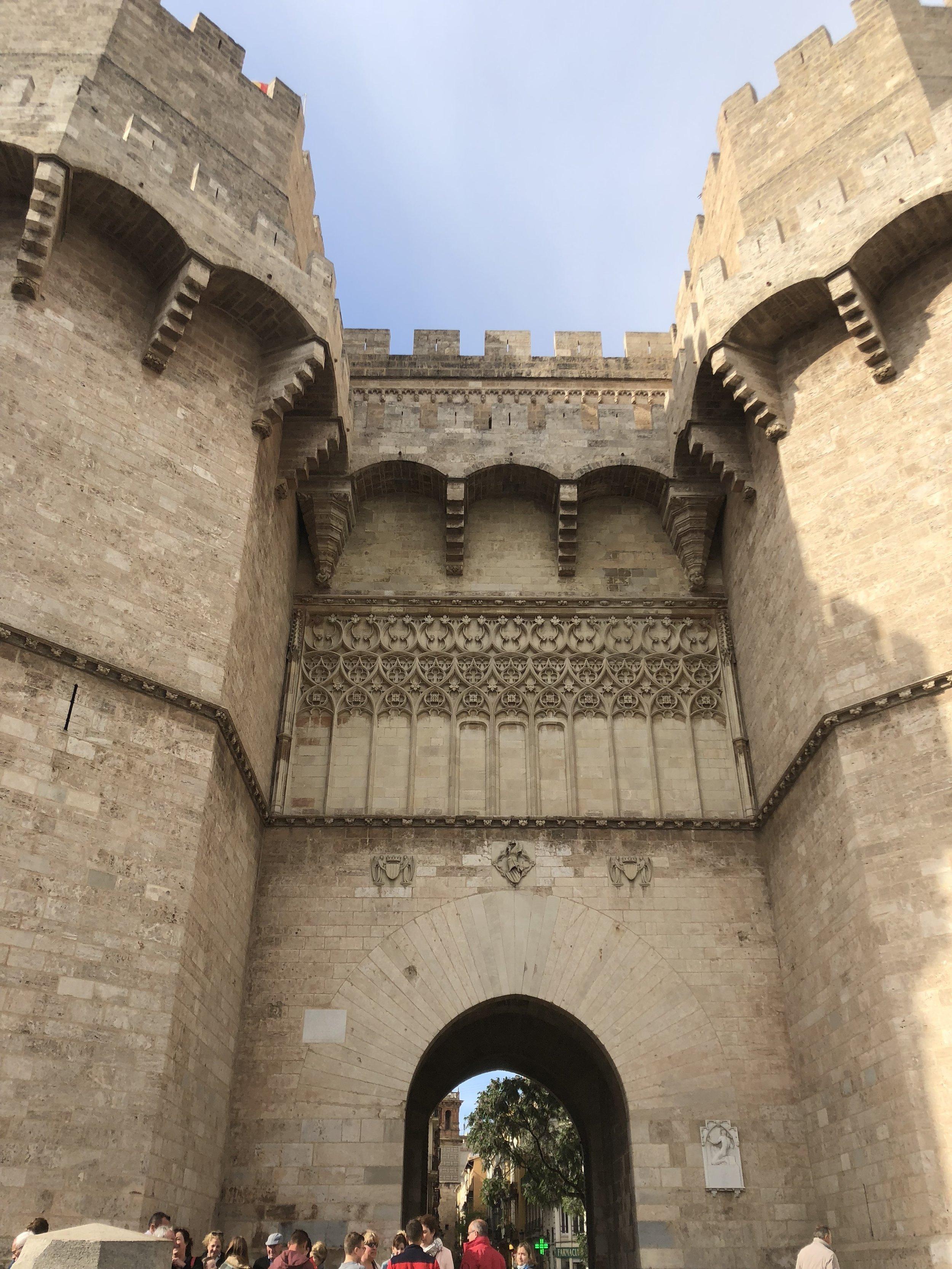Castle gates all around the city.