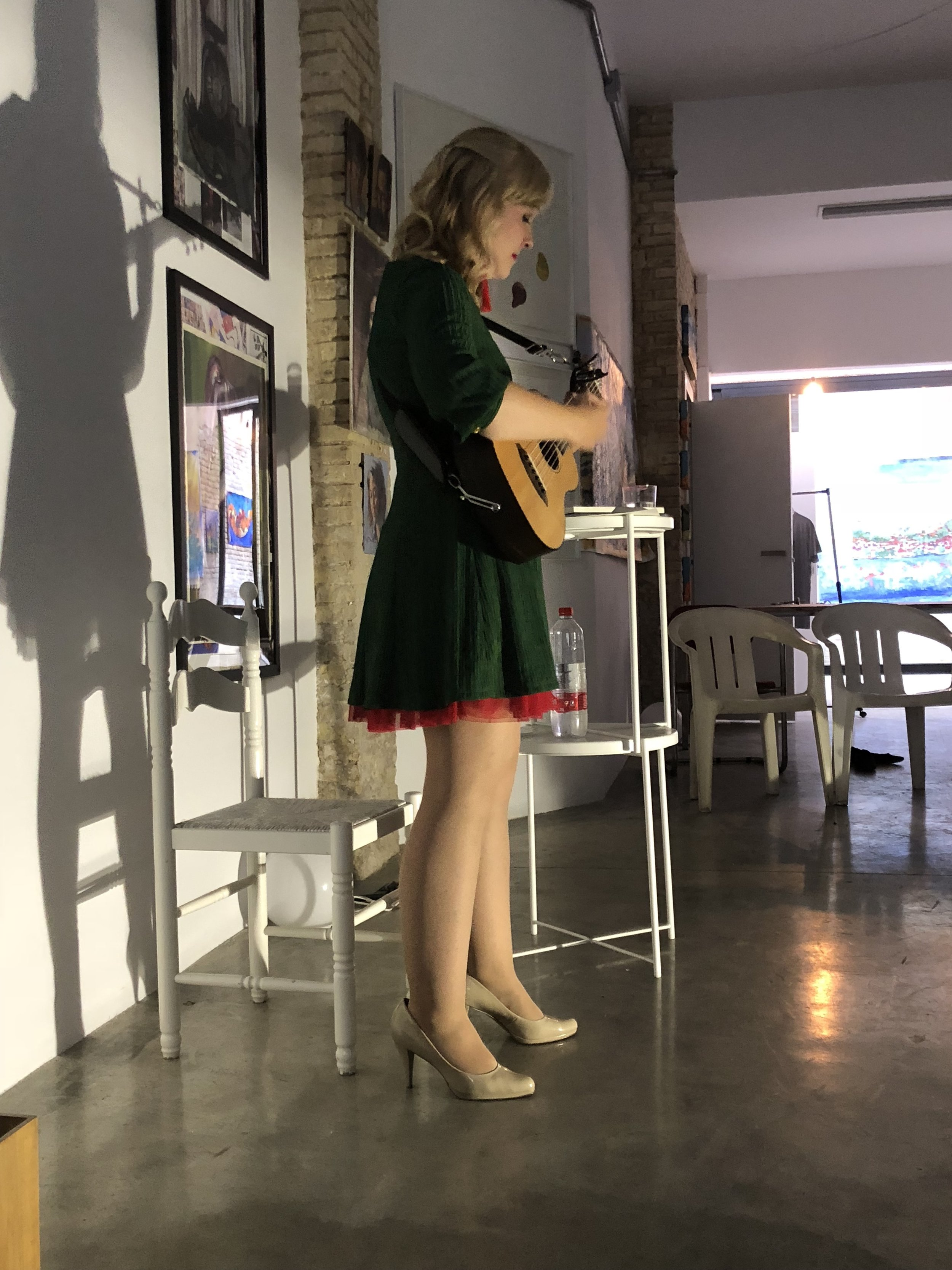 Mary got to perform her show twice.