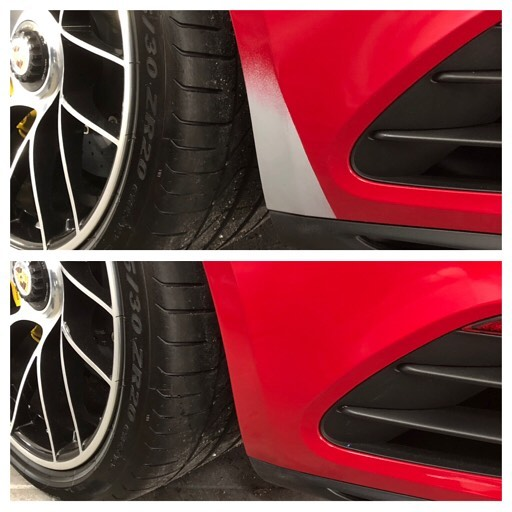 Slitasje skade bakfanger Porsche 911 turbo S 🚘  #lakkskadeas #smartrepair