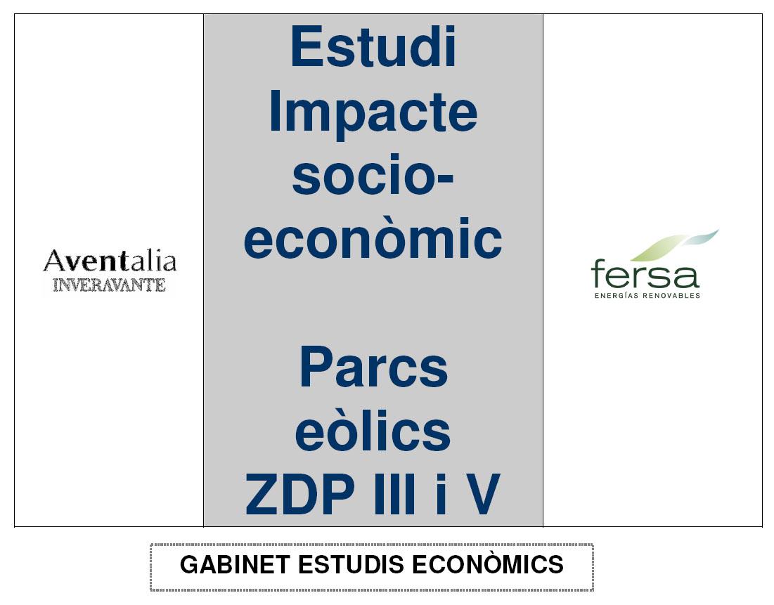Impacte Socio-econòmic dels Parcs Eolics