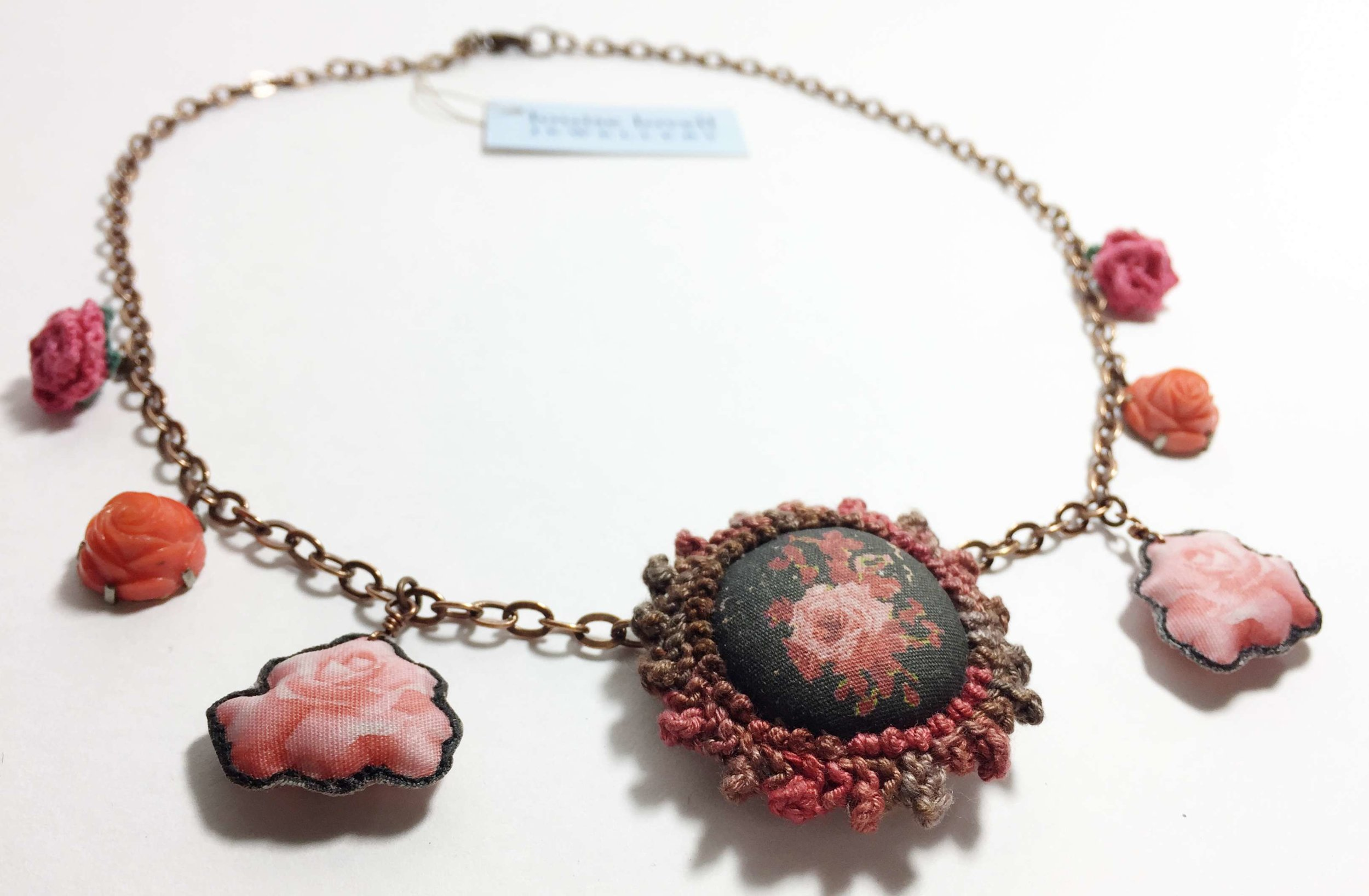 Rose and Flowers Necklace