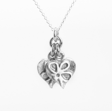 Romance twin small heart trace necklace