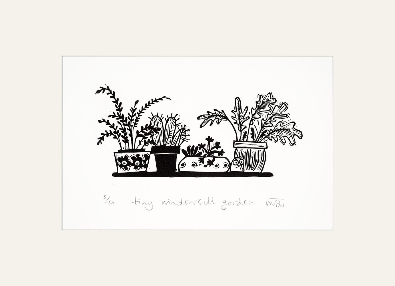 Tiny Windowsill Garden