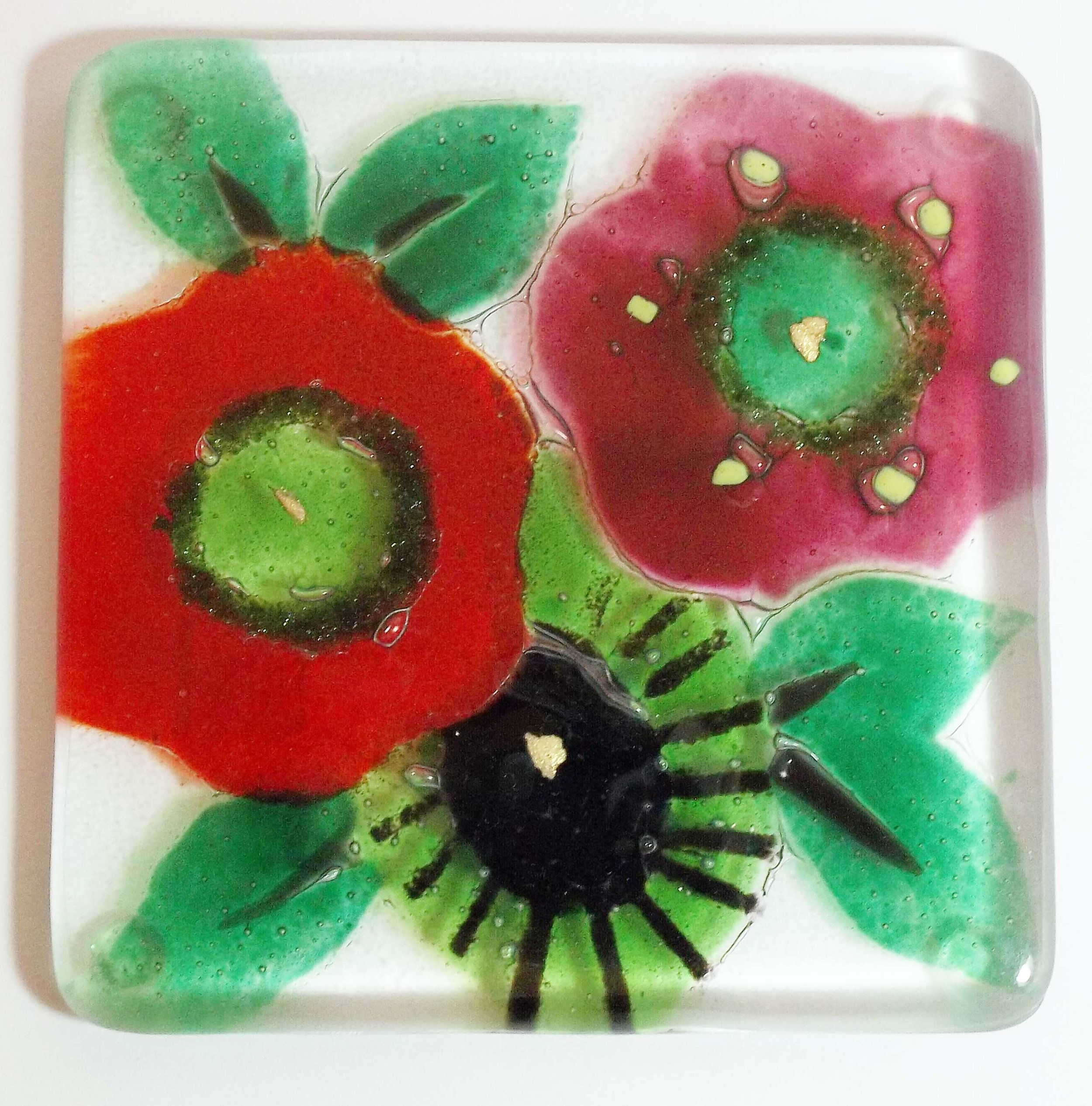 Glass Kiln Formed Coasters