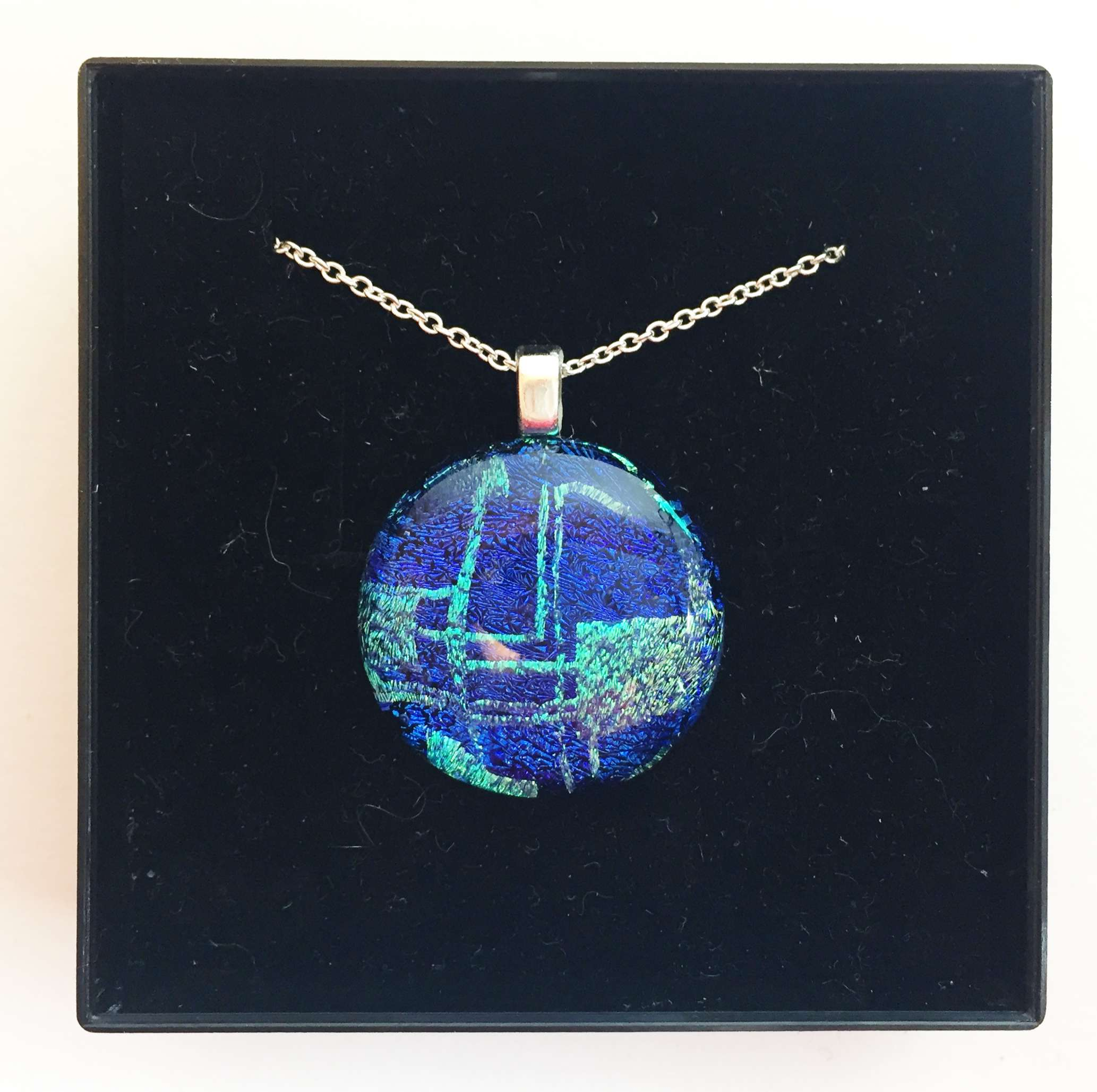 Dichroic Pendant Necklace